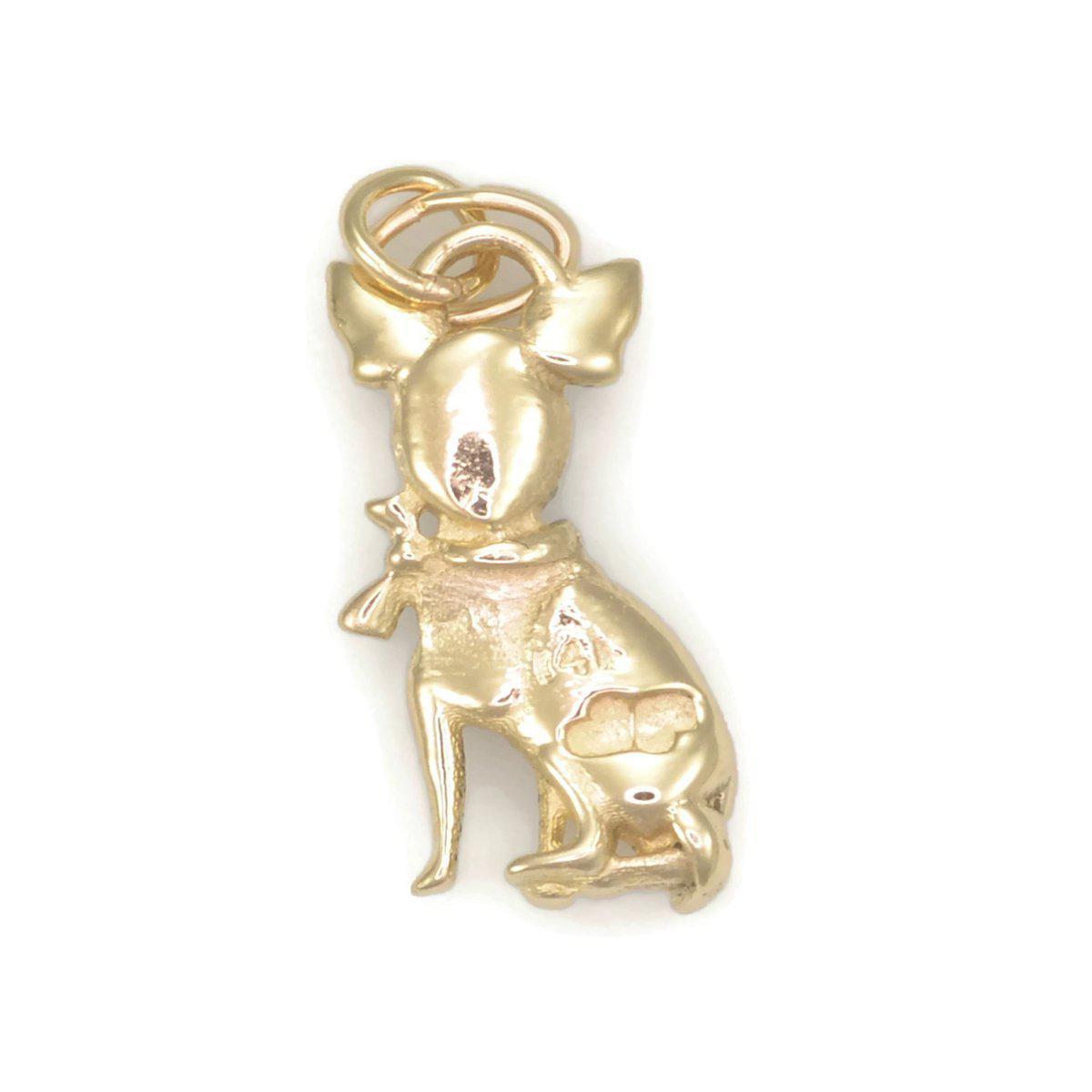 Donna Pizarro Designs 14kt Yellow Gold Chihuahua Charm hUMYsj