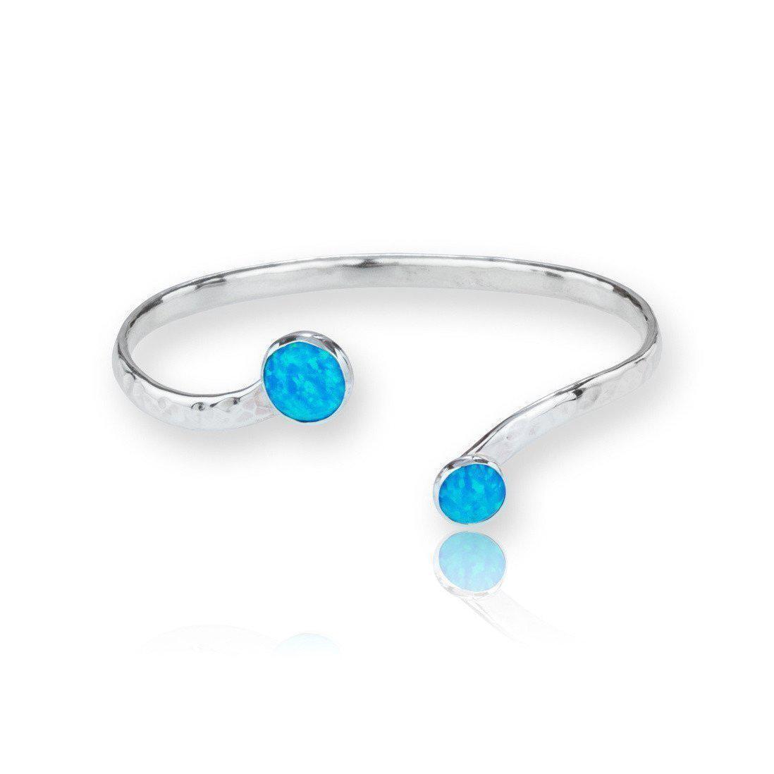 Lavan Gold & Sterling Silver Blue Opal Bangle B1VE3WBaKj