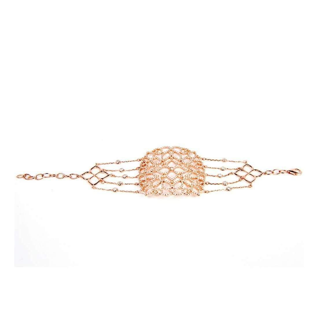 Latelita London 22kt Rose Gold Vermeil Micro pave Filigree Bracelet TwwQaXZ
