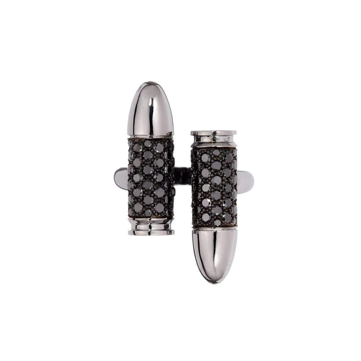 Akillis Bang Bang Toi and Moi White Gold Diamond Set Ring - UK L 1/4 - US 5 3/4 - EU 52 E4M504V7i
