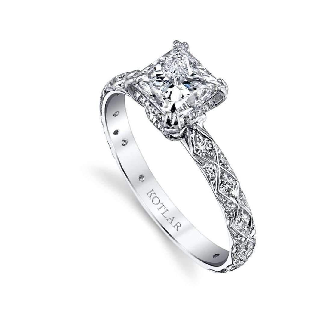 Harry Kotlar Princess Cut Unity Ring - UK M - US 6 - EU 52 3/4 SZ38TIs