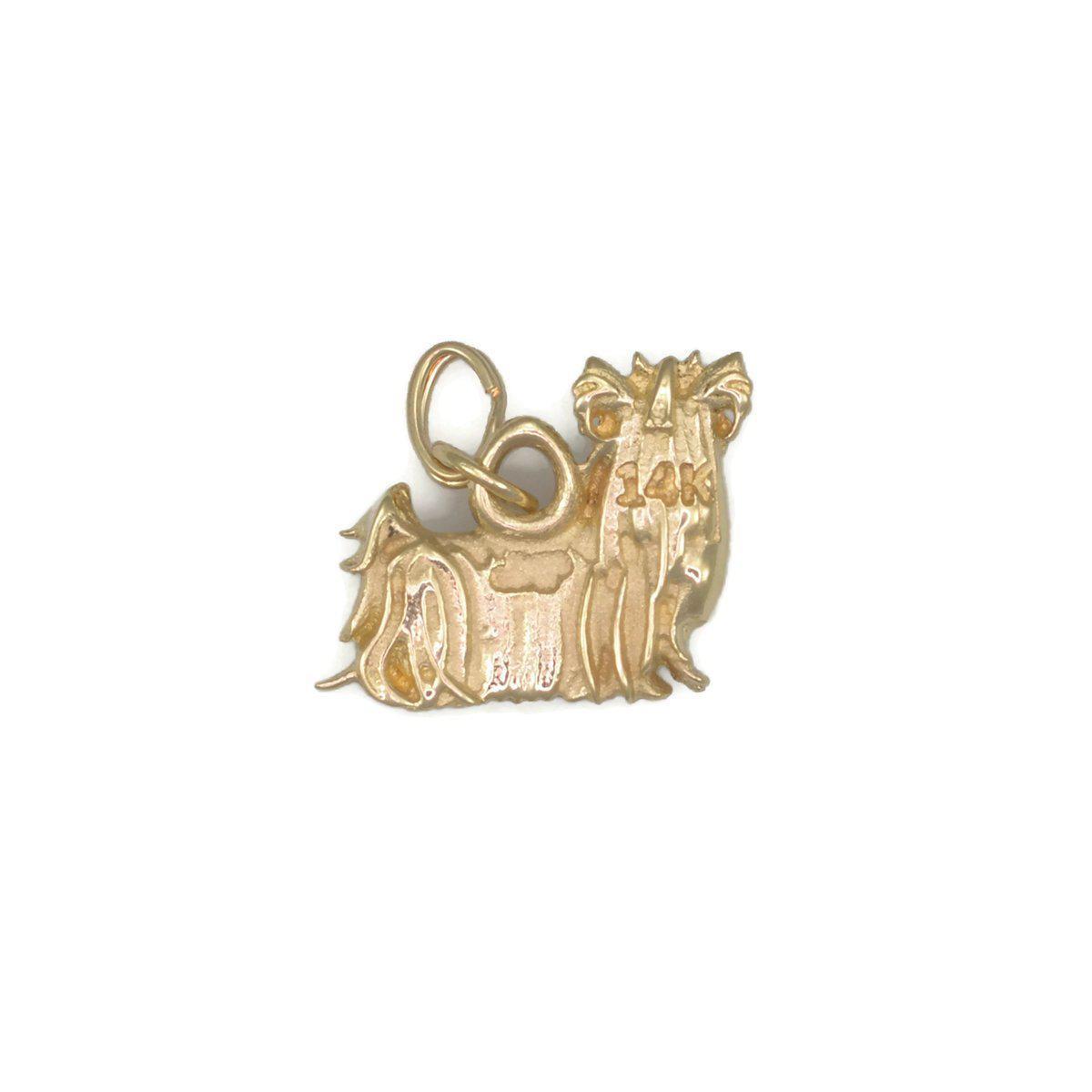 Donna Pizarro Designs 14kt Yellow Gold Yorkshire Terrier Charm cE304BQk