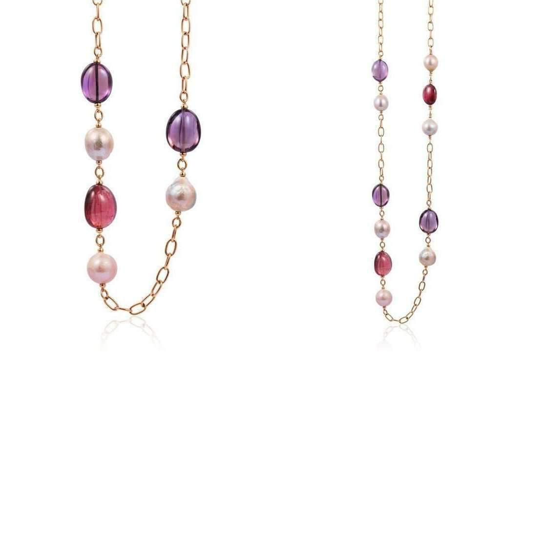 Goshwara Beyond Blue Topaz, Peridot & Pearl Necklaces