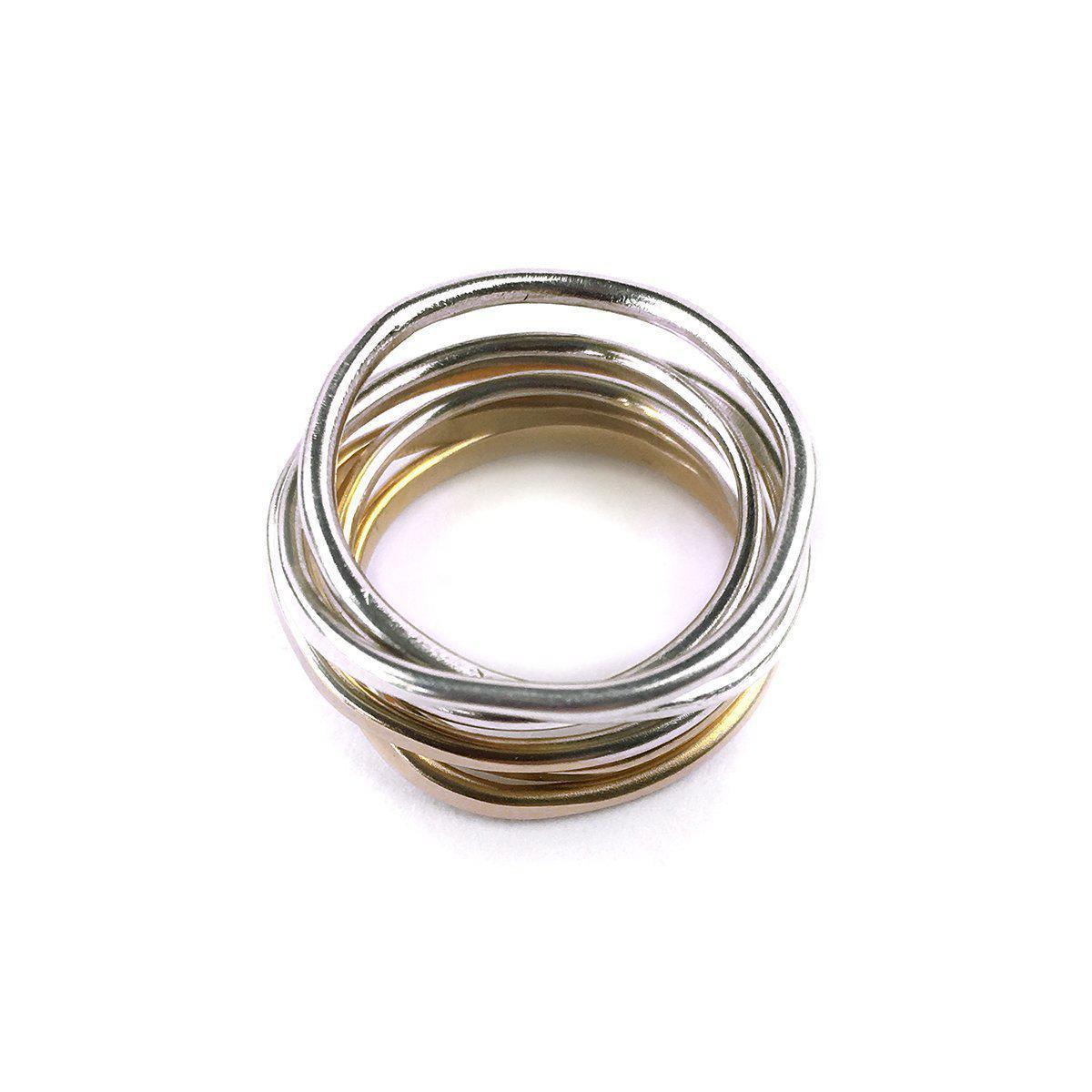 Fran Regan Jewellery Ombre Cosmic Wedding Ring 6 Tier - UK K 1/2 - US 5 3/8 - EU 51 1/4 1vZEvW0e39