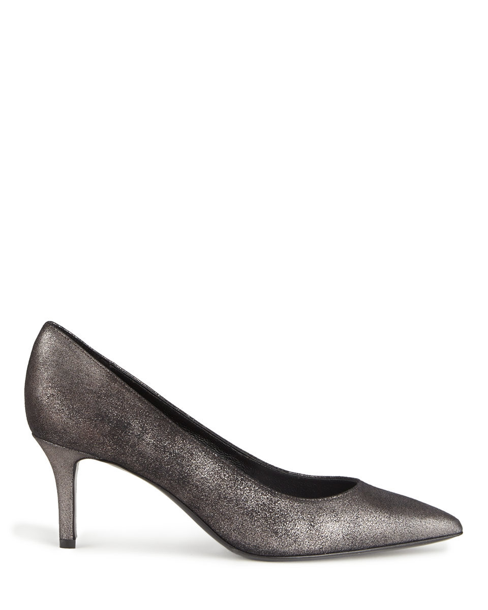 Jigsaw Milly Court Shoes in Black (Pewter)
