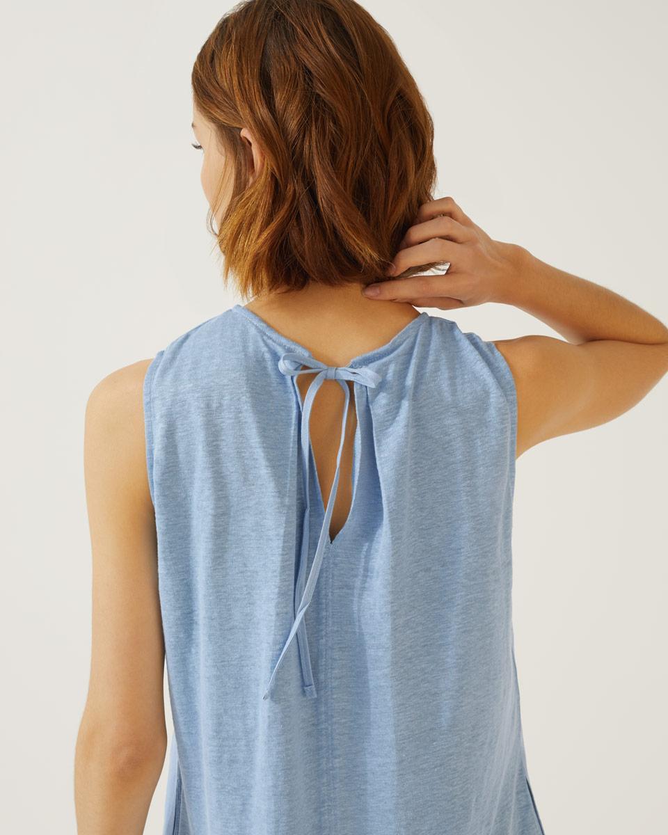 2e30628d967 Jigsaw - Blue Linen Mix Dress - Lyst. View fullscreen