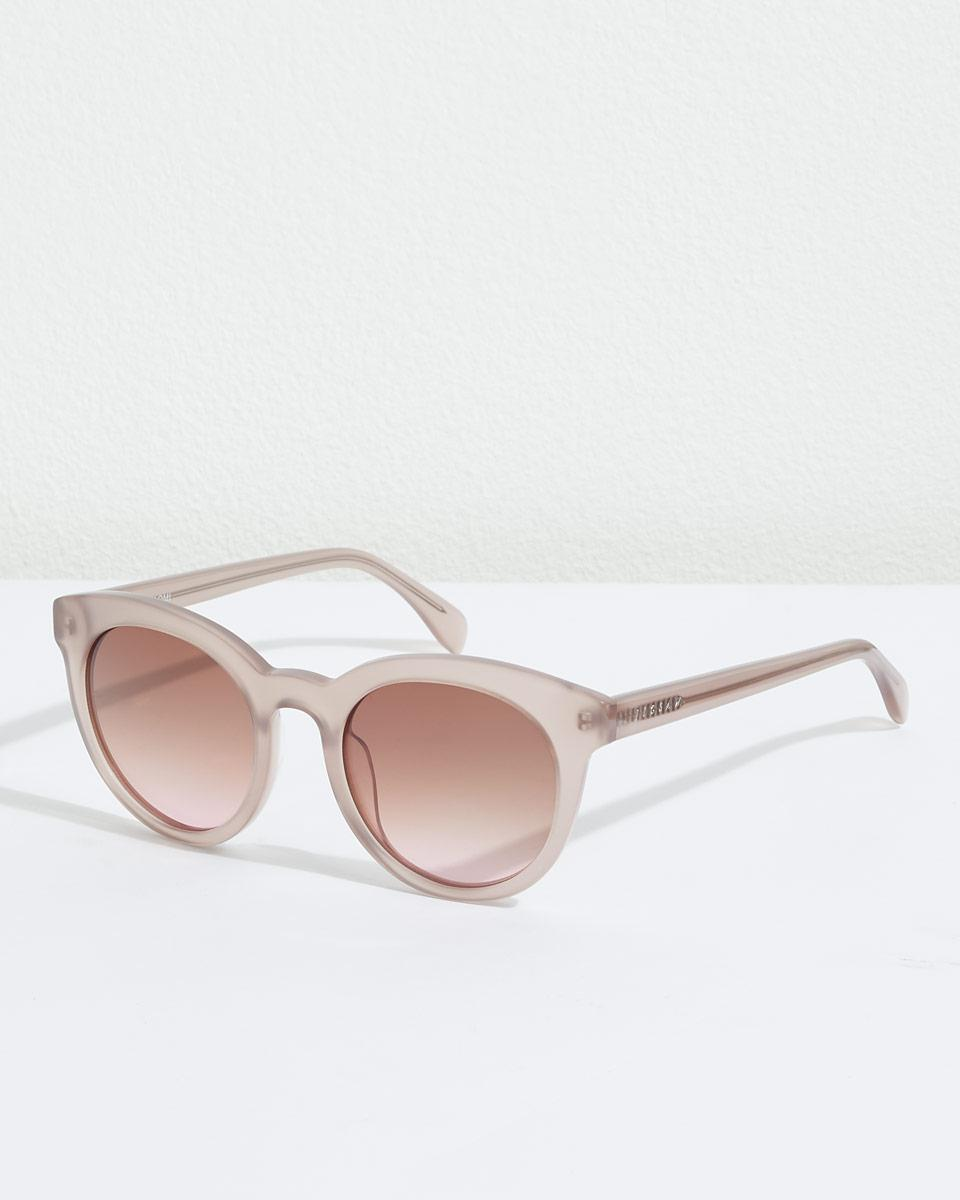 040712e2c7 Jigsaw Naomi Chunky Round Frame Sunglasses in Pink - Lyst