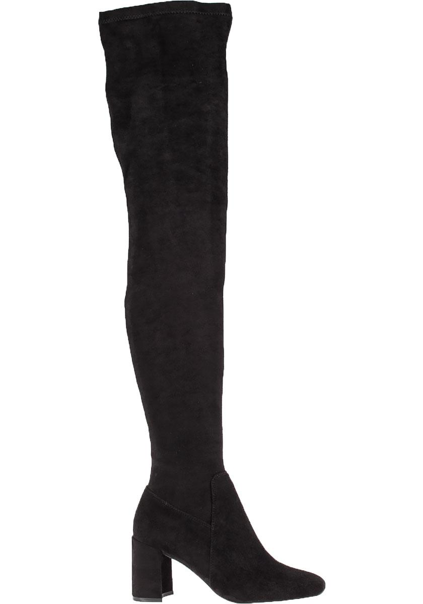 Jeffrey Campbell. Women's Black Cienega Suede Thigh-High Boots