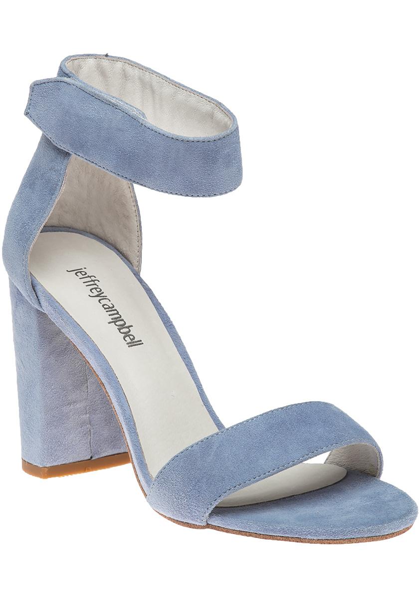 Jeffrey campbell Lindsay Light Blue Suede Sandal in Blue ...