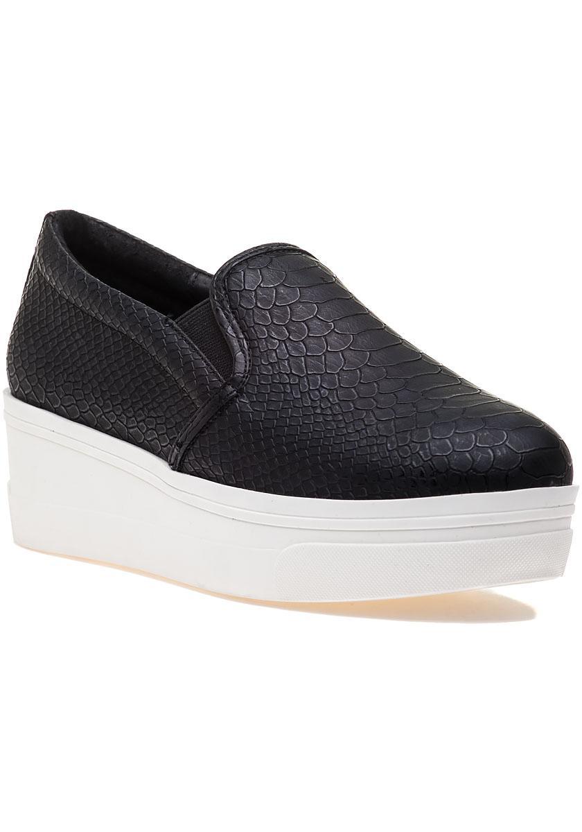 b7de44c4524c Lyst - J Slides Genna Black Lux Sneaker in Black