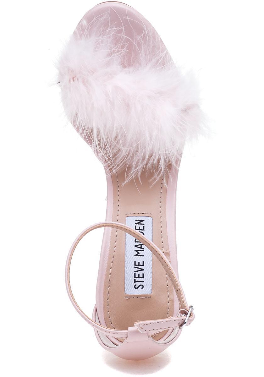 752c79c6b19 Lyst steve madden scarlett pink fluffy sandal in pink jpg 840x1200 Steve  and scarlett