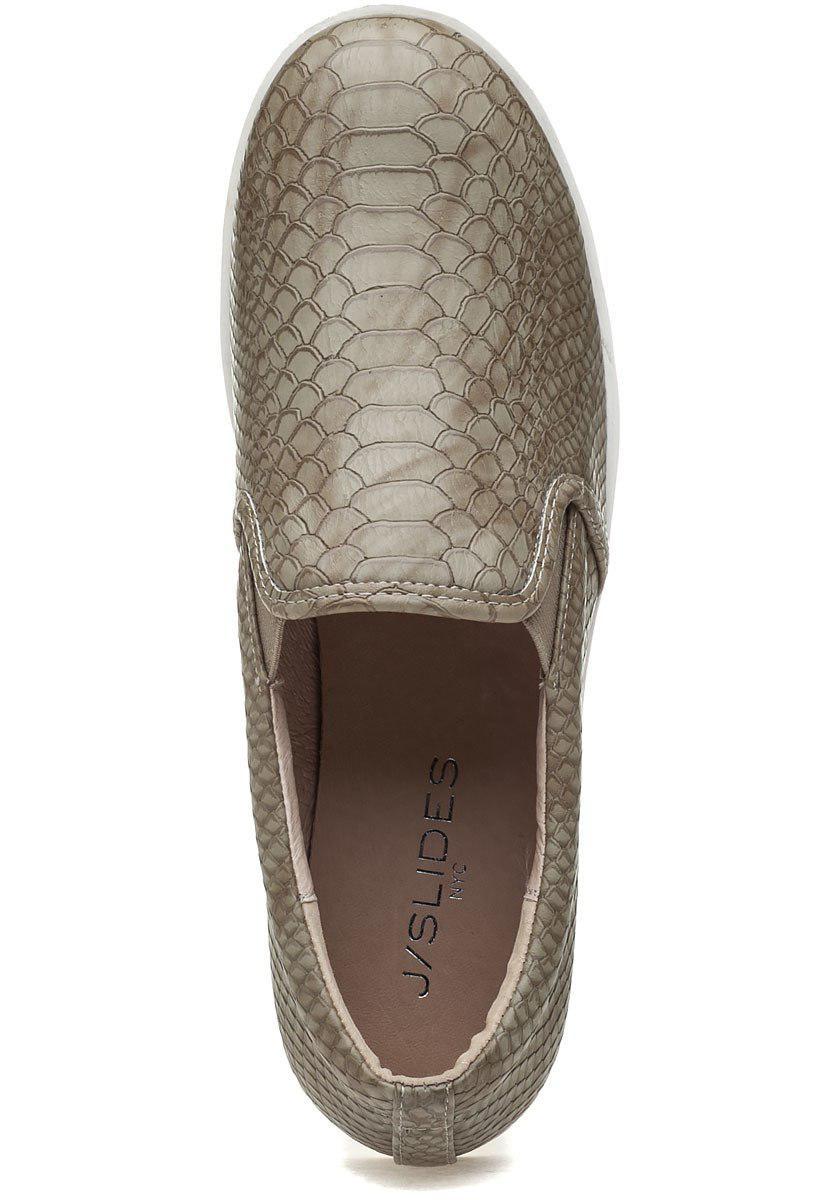 1a452599fd3b Lyst - J Slides Genna Platform Sneaker Taupe Lux in Brown