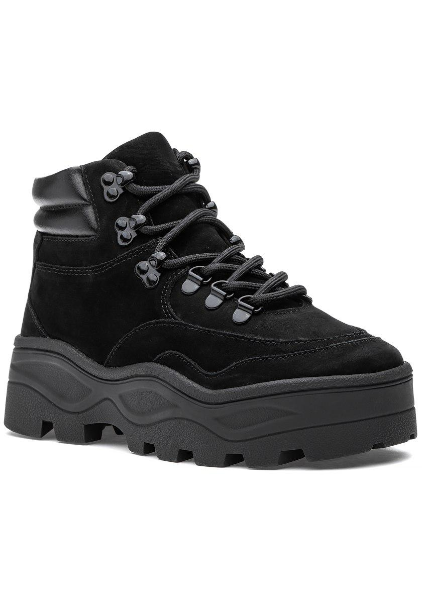 b3ca72c11e3 Lyst - Steve Madden Rockie Boot Black Nubuck in Black