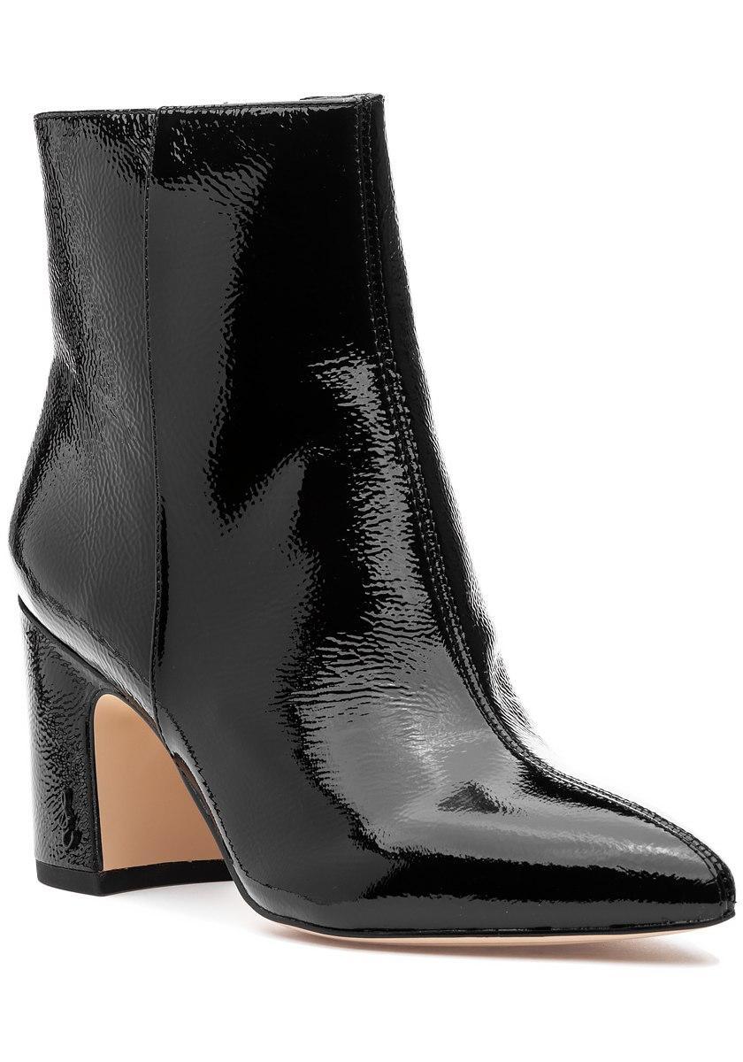de031342200e42 Lyst - Sam Edelman Hilty Boot Black Crinkle Patent in Black