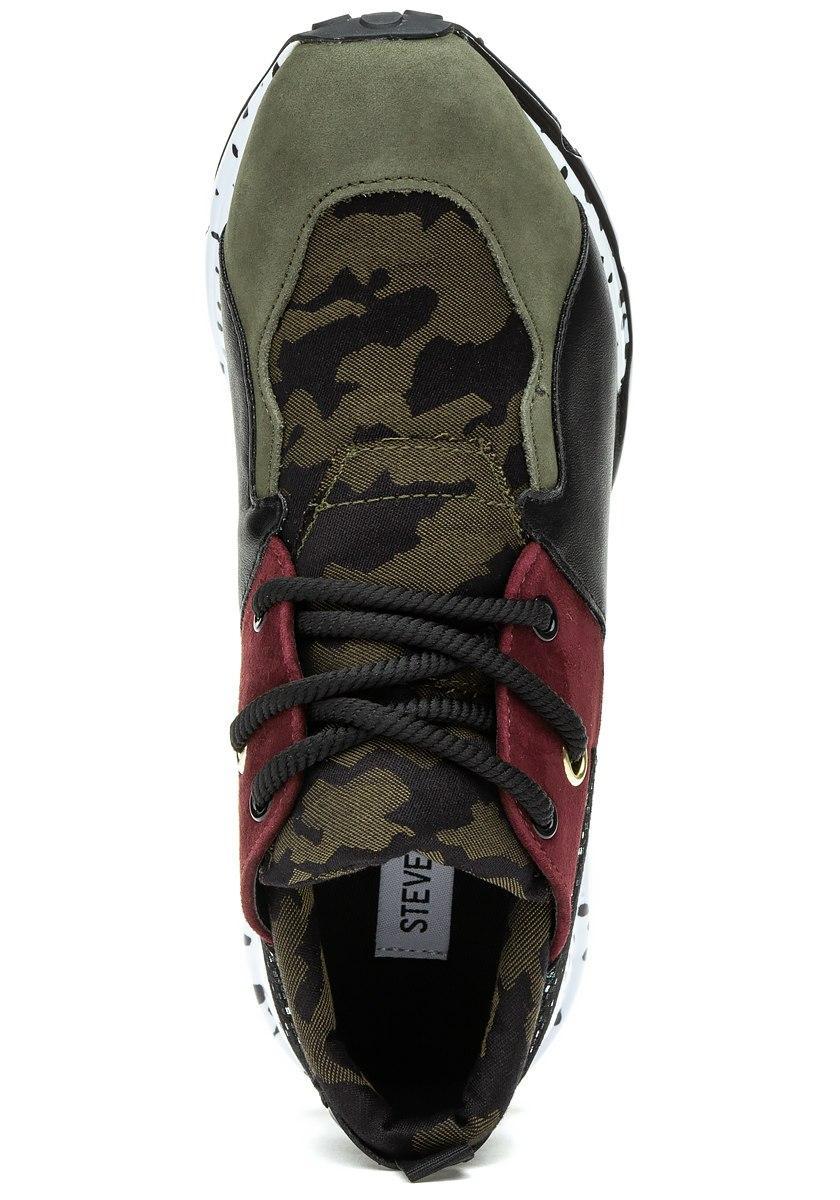 b8d1bdad666 Lyst - Steve Madden Cliff Sneaker Olive Multi