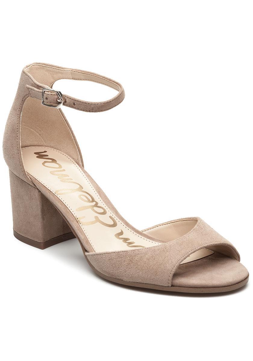 7c9884b5f99175 Lyst - Sam Edelman Susie Oatmeal Suede Sandal in Natural