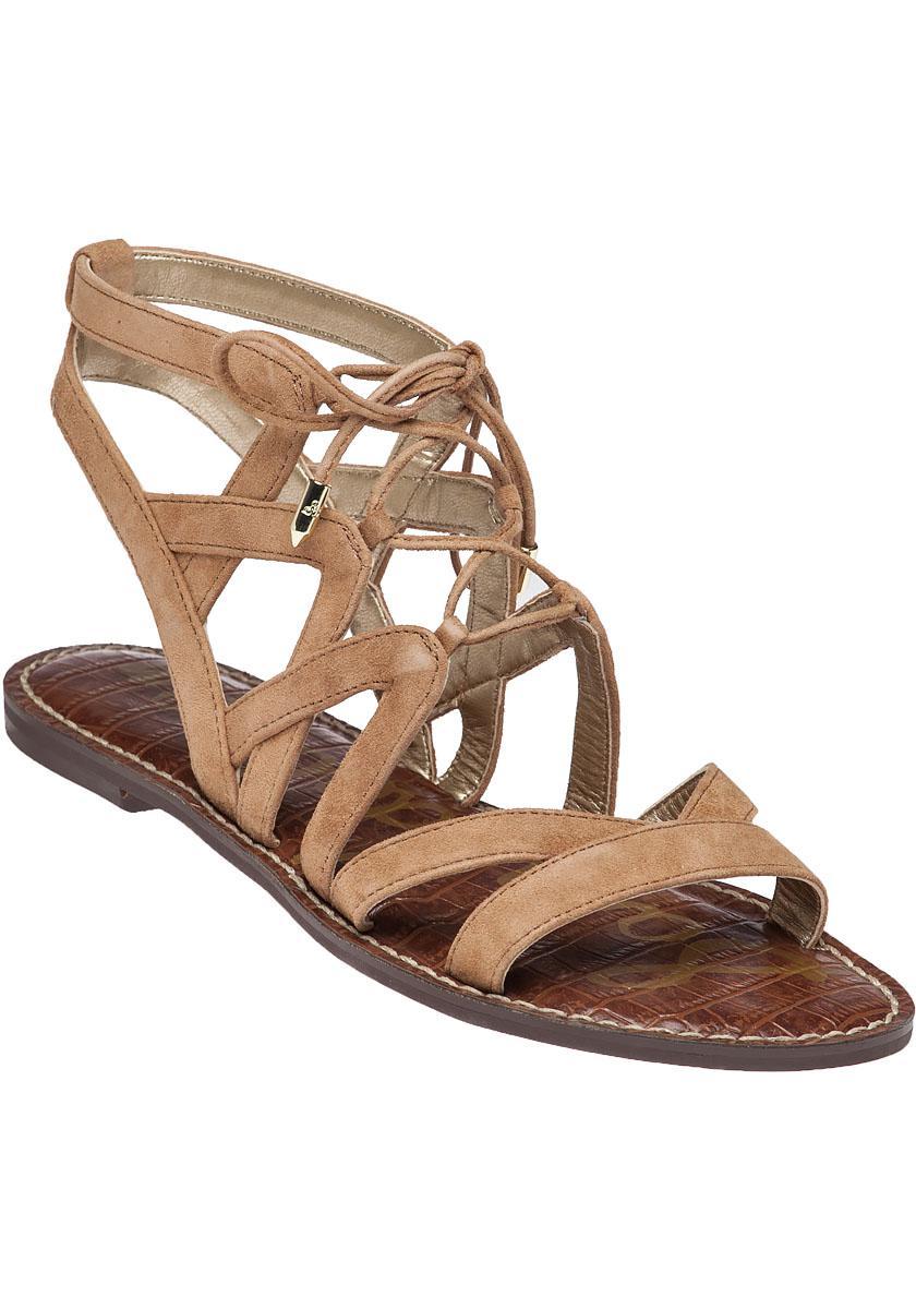 4466b23e090 Lyst - Sam Edelman Gemma Suede Gladiator Sandals in Brown