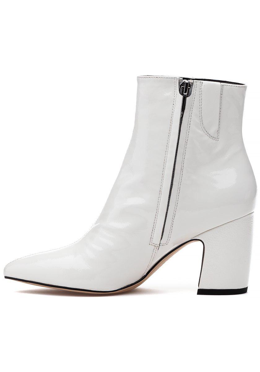 39b8278eb77b60 ... Sam Edelman - Hilty Boot White Crinkle Patent - Lyst. View fullscreen  clearance prices 53f52 ...
