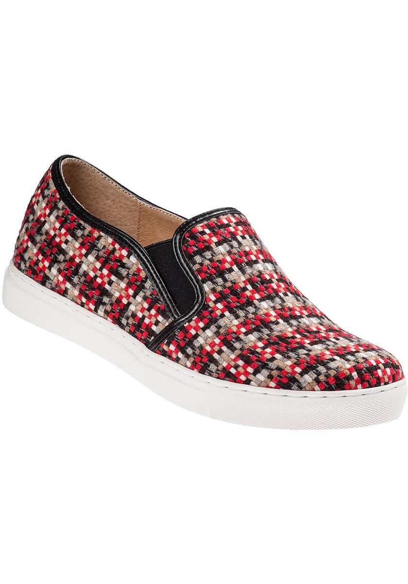 8ef5b1860bc4 Lyst - J Slides Sammi Slip-on Sneaker Red Multi Fabric in Black