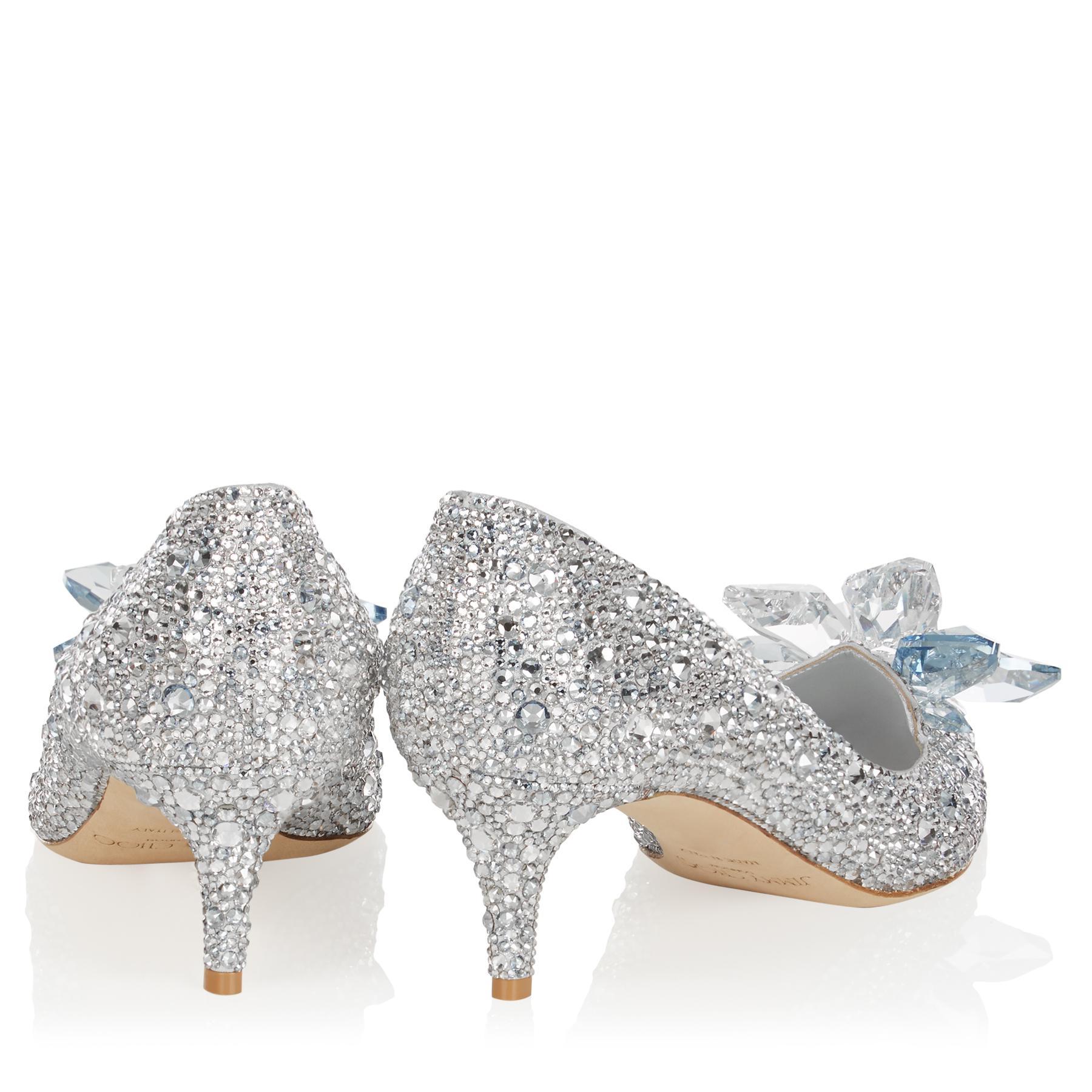 0b4c859dfa8 Jimmy Choo - Metallic Allure Crystal Covered Pointy Toe Pumps - Lyst. View  fullscreen