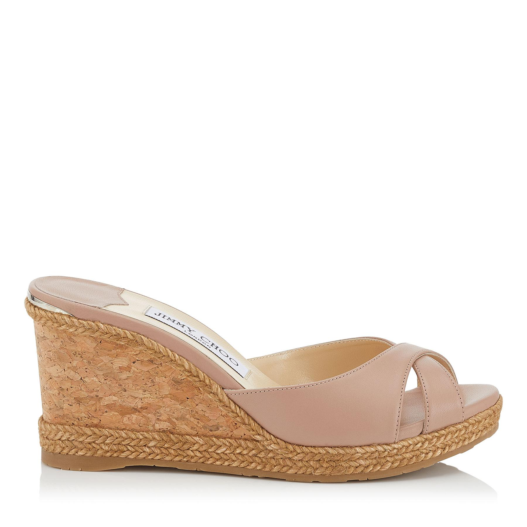 2a0435eb2980 Jimmy Choo. Women s Almer 80 Pink Nappa Leather Sandal Mules With Braid ...