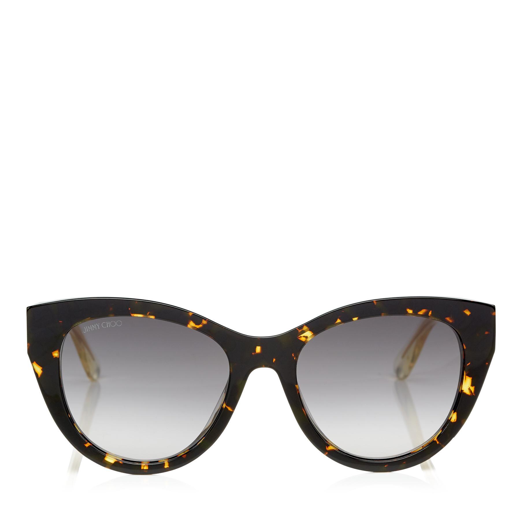 47593ba3216b Jimmy Choo - Gray Chahna Havana Acetate Cat-eye Sunglasses With Rose Gold  Chain Metal. View fullscreen