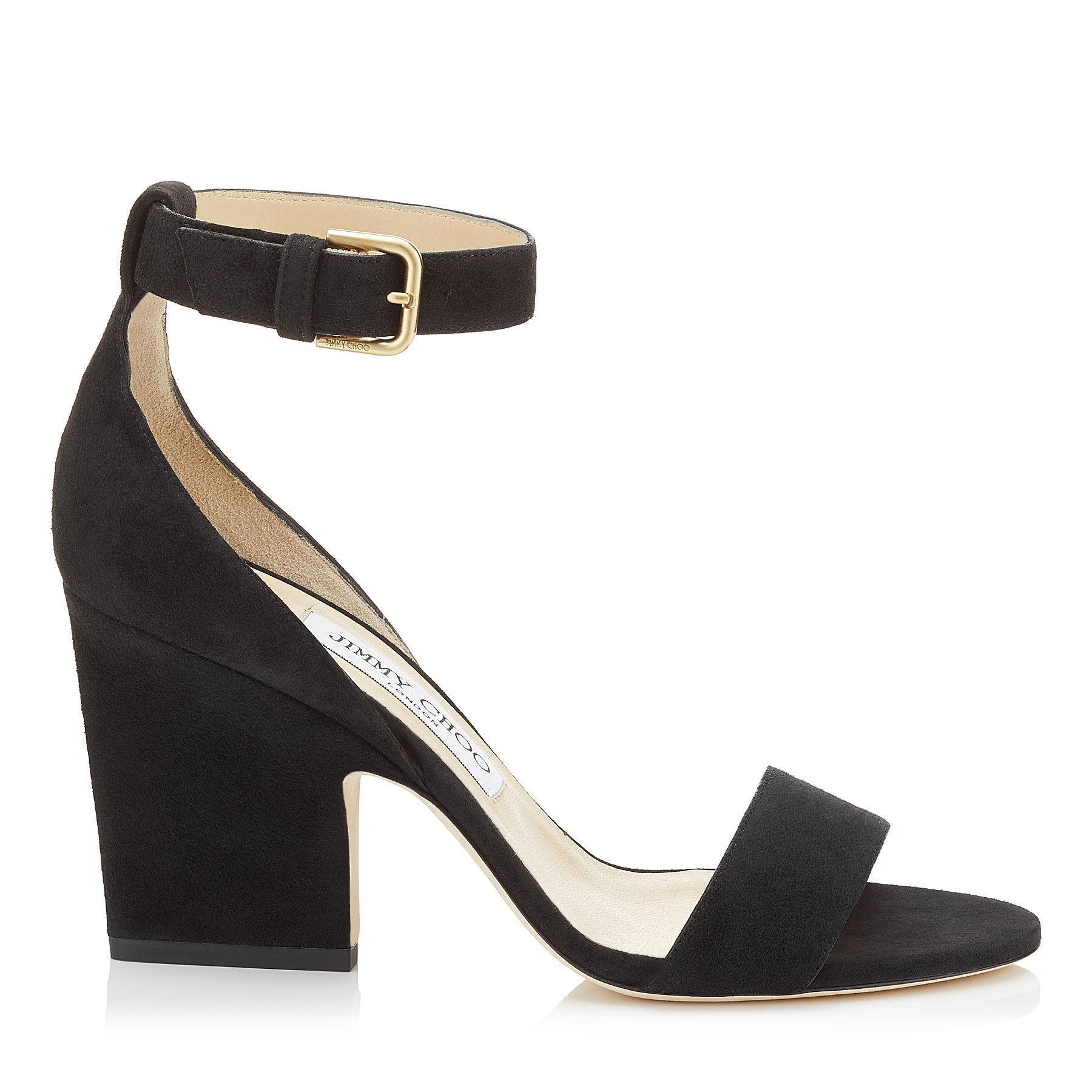 Jimmy choo Women's Edina 85 Metallic Denim High-Heel Sandals jhxcTJ