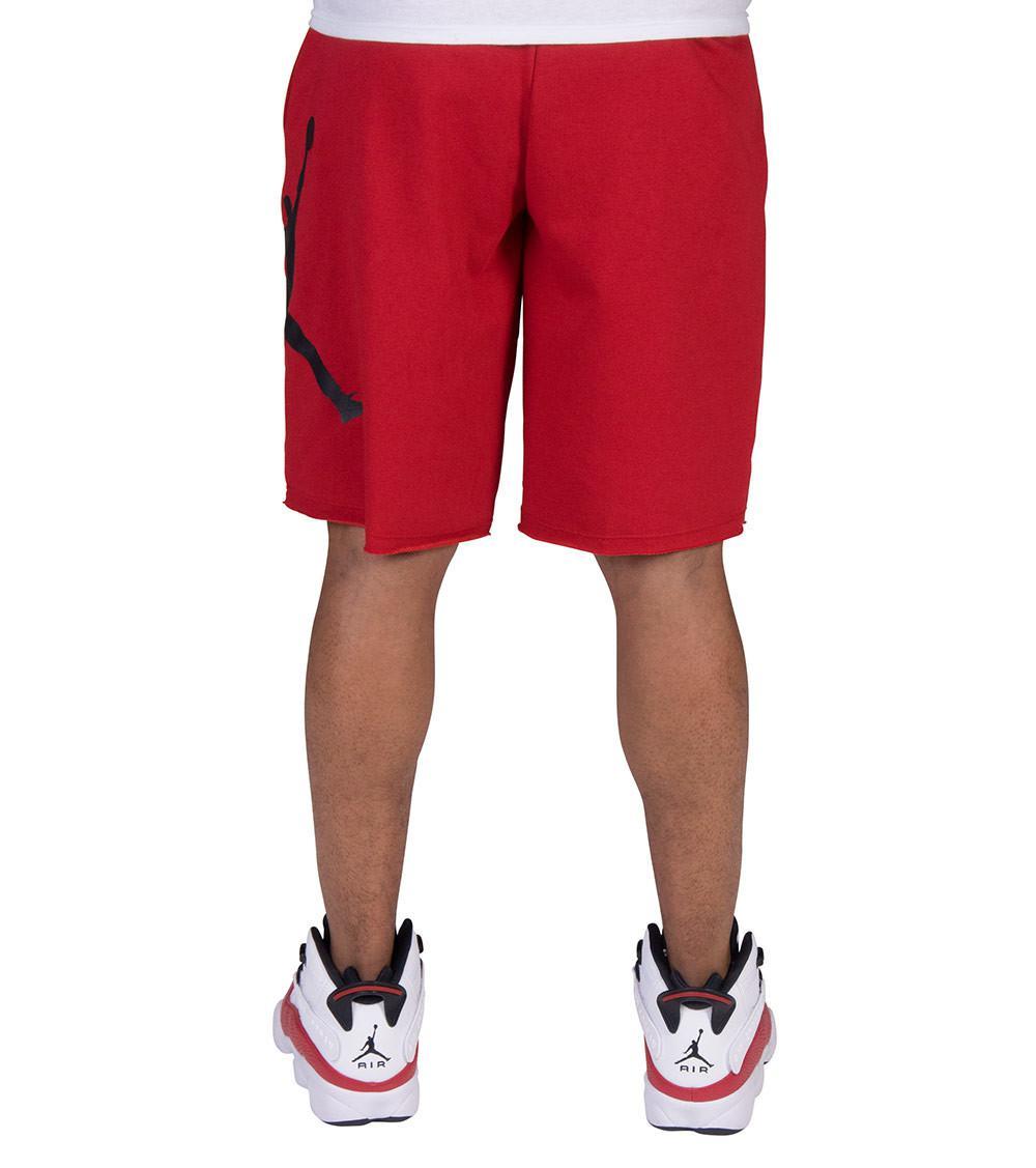 562c025d131333 Nike - Red Jumpman Air Fleece Shorts for Men - Lyst. View fullscreen