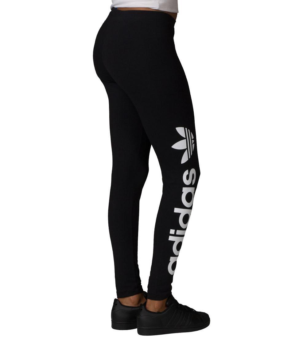 Adidas Originals Black Linear Leggings Lyst