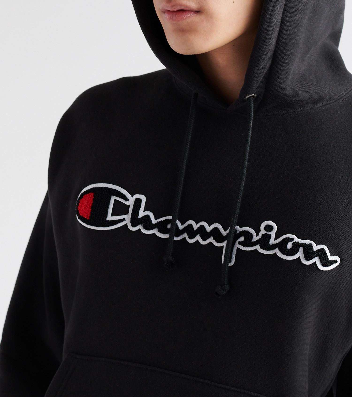 298aaf33a4b1 Champion - Black Reverse Weave Pullover Hoodie for Men - Lyst. View  fullscreen