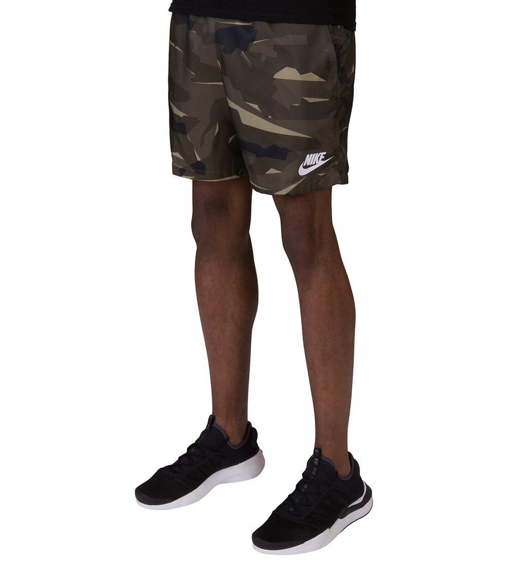 8530404968 Nike - Green Camo Woven Flow Shorts for Men - Lyst. View fullscreen