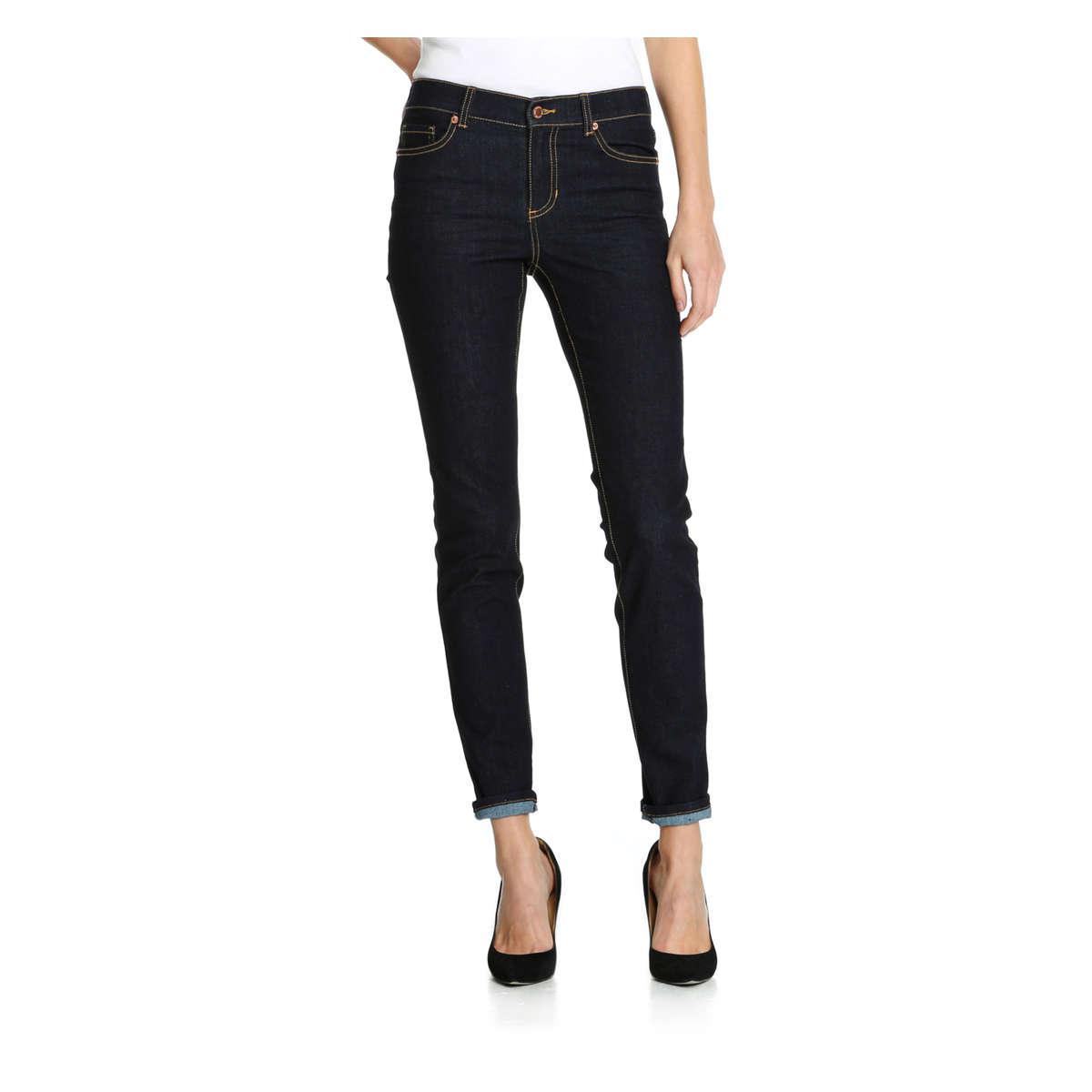dbda2d4c7593 Lyst - Joe Fresh Ultra Slim Mid Rise Jean in Blue