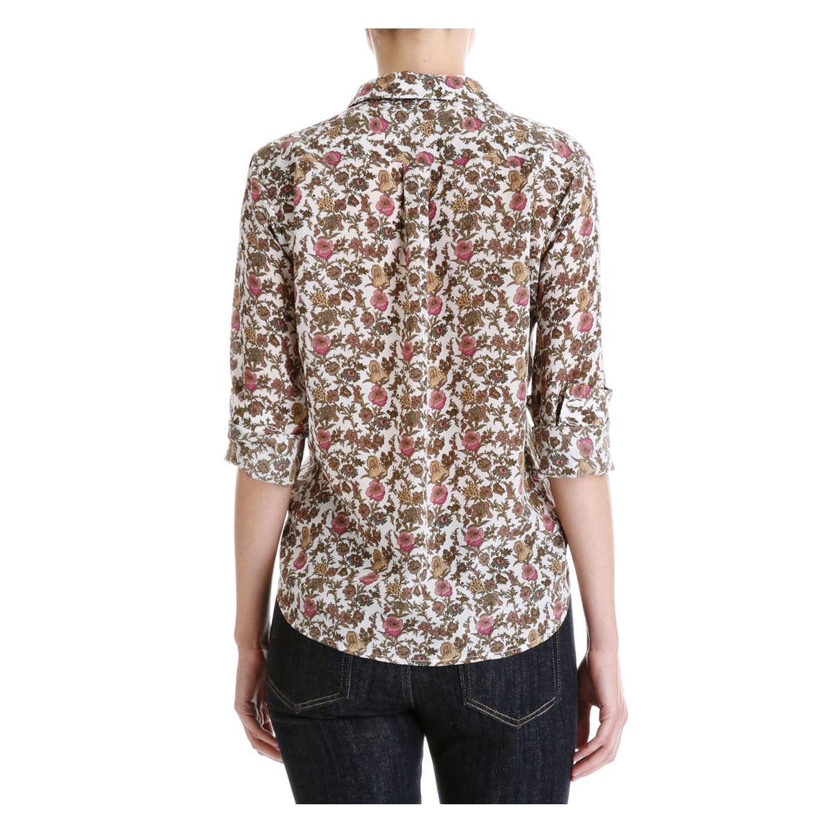 Lyst joe fresh silk button down shirt in white for Silk button down shirt