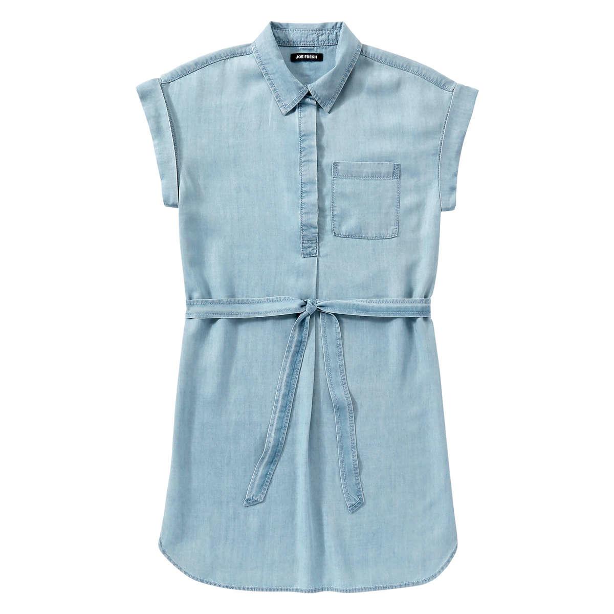 044dc827d1d Lyst - Joe Fresh Denim Dress in Blue