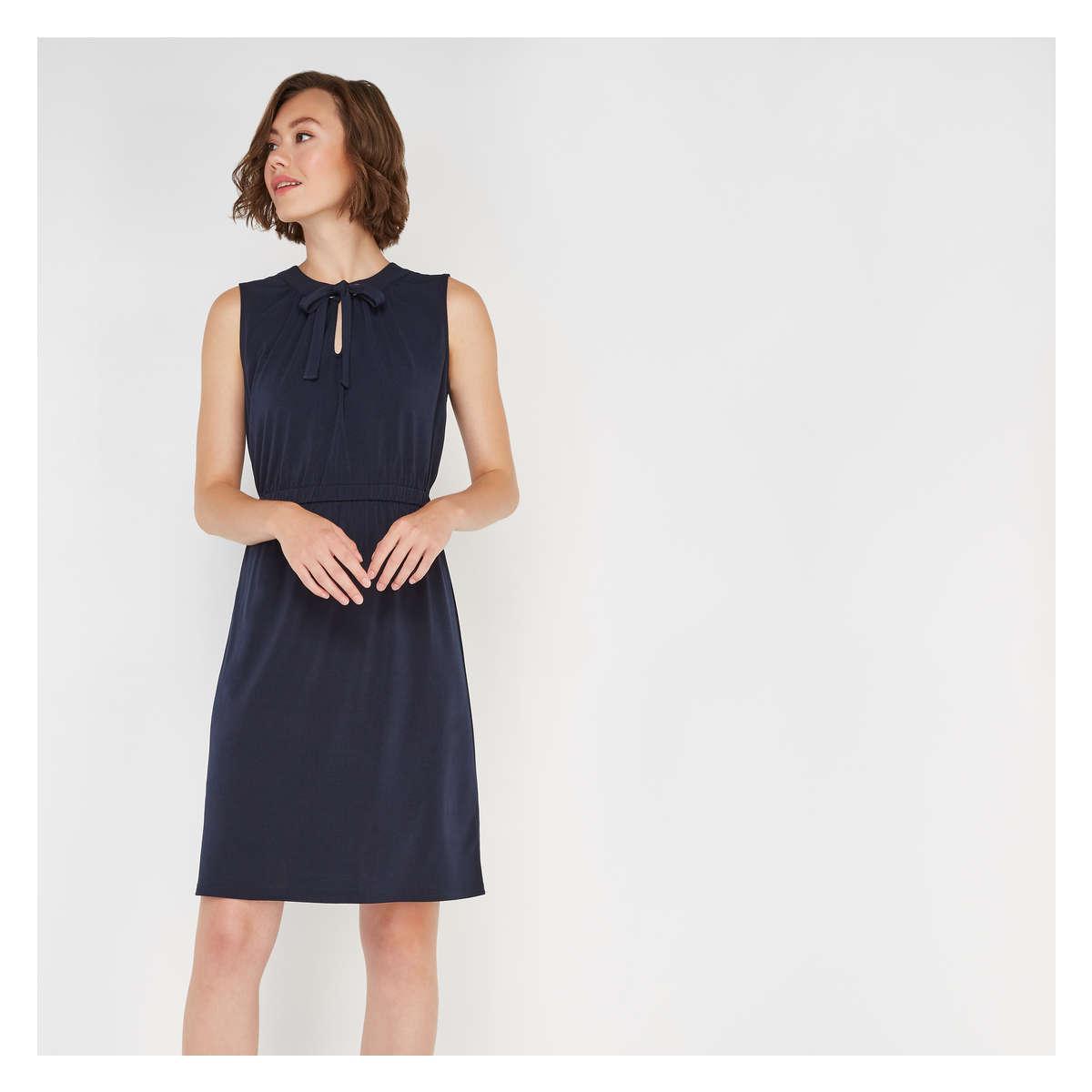 Lyst - Joe Fresh Sleeveless Grommet Dress in Blue b7a3e89a5