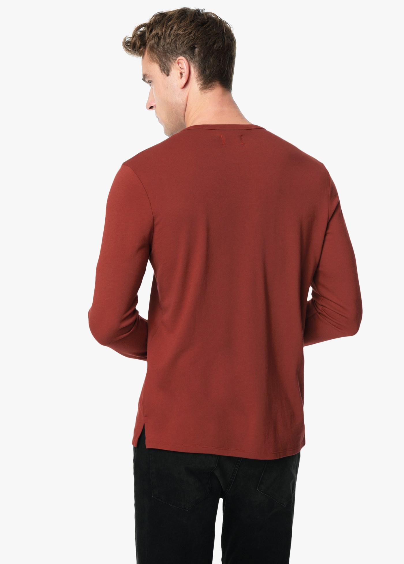 d256ae32 Lyst - Joe's Jeans Wintz L/s Henley in Red for Men