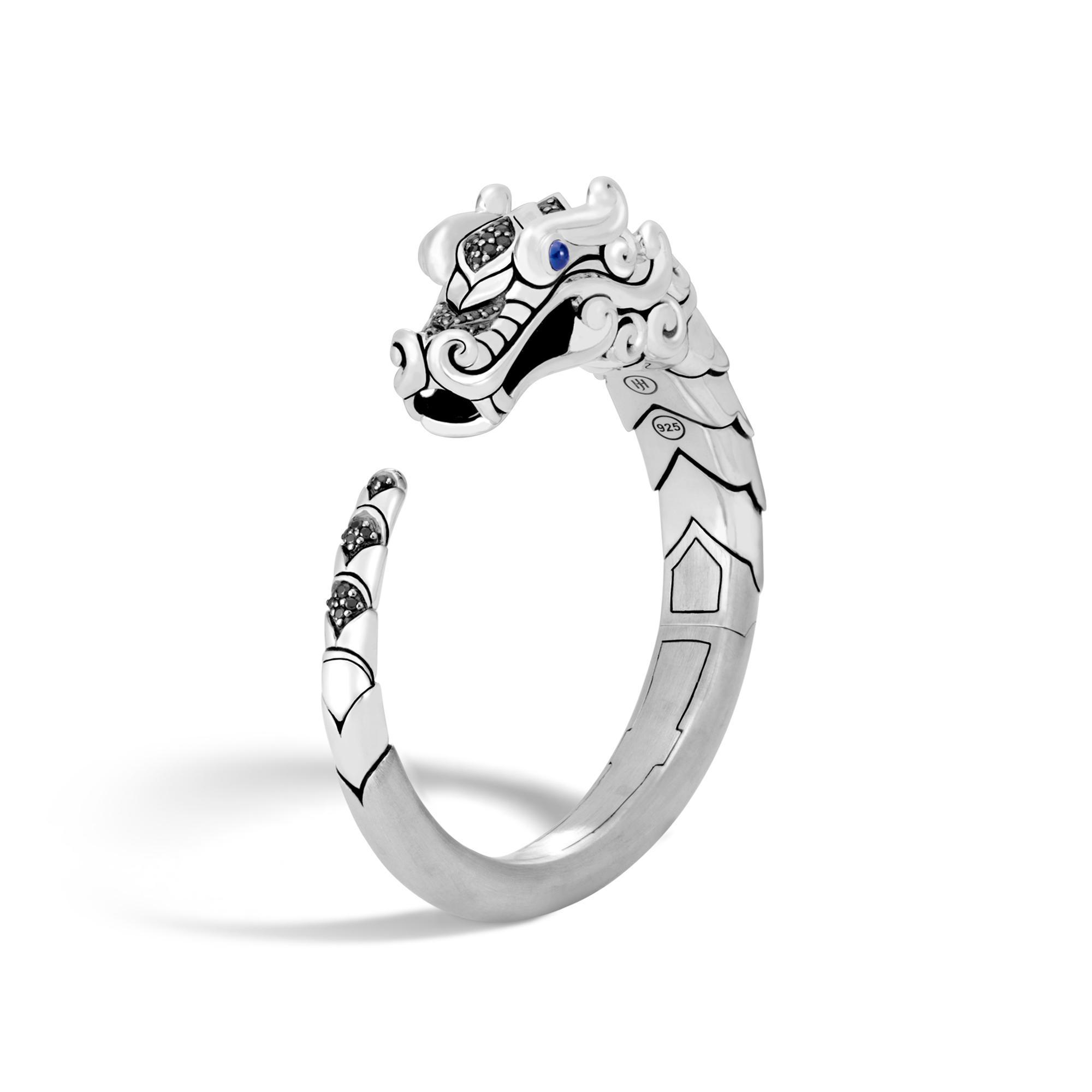 John Hardy Naga Multi Row Bracelet With Black Sapphire, Black Spinel S Black spinel