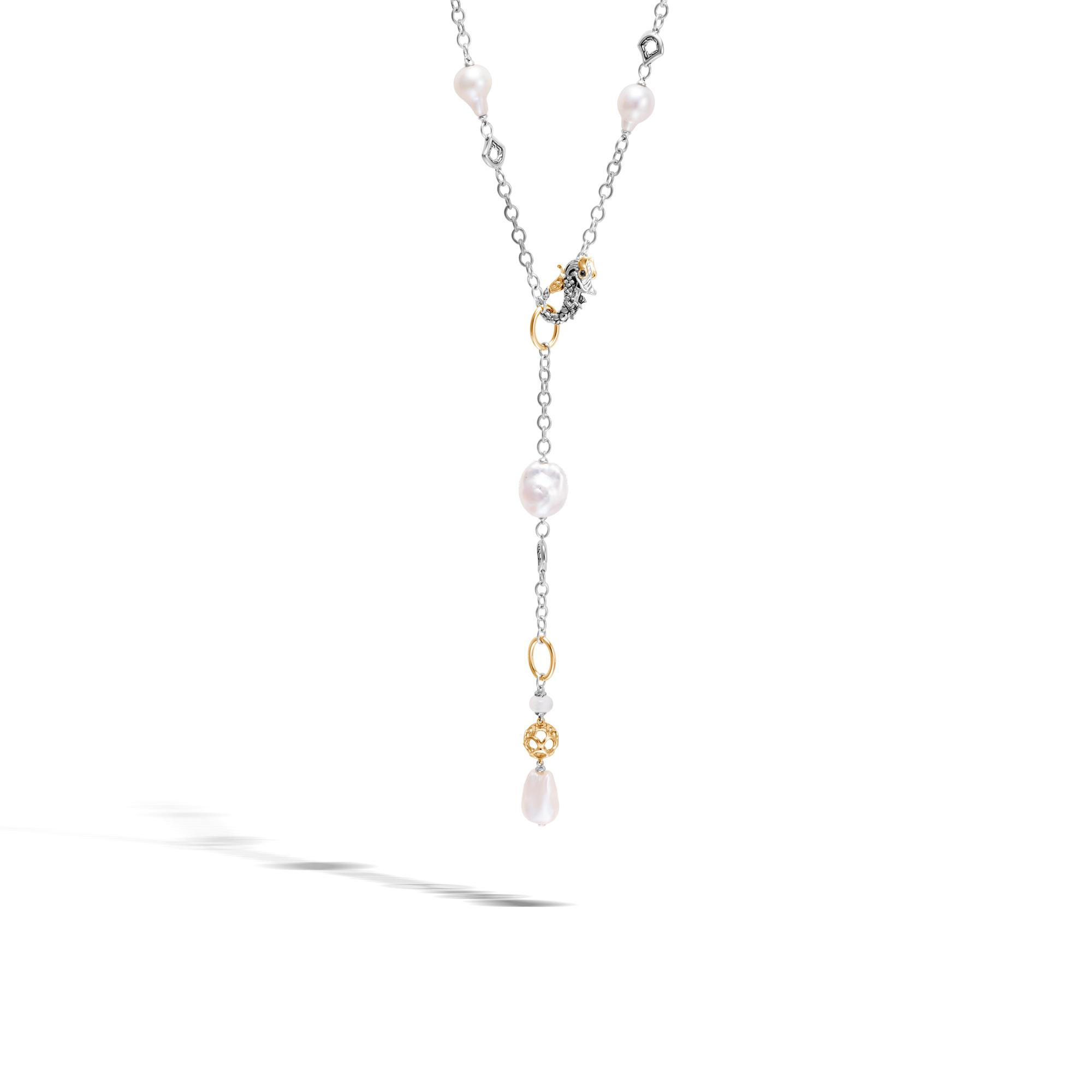 John Hardy Pendant Necklace With White Fresh Water Pearl qb60XSwf