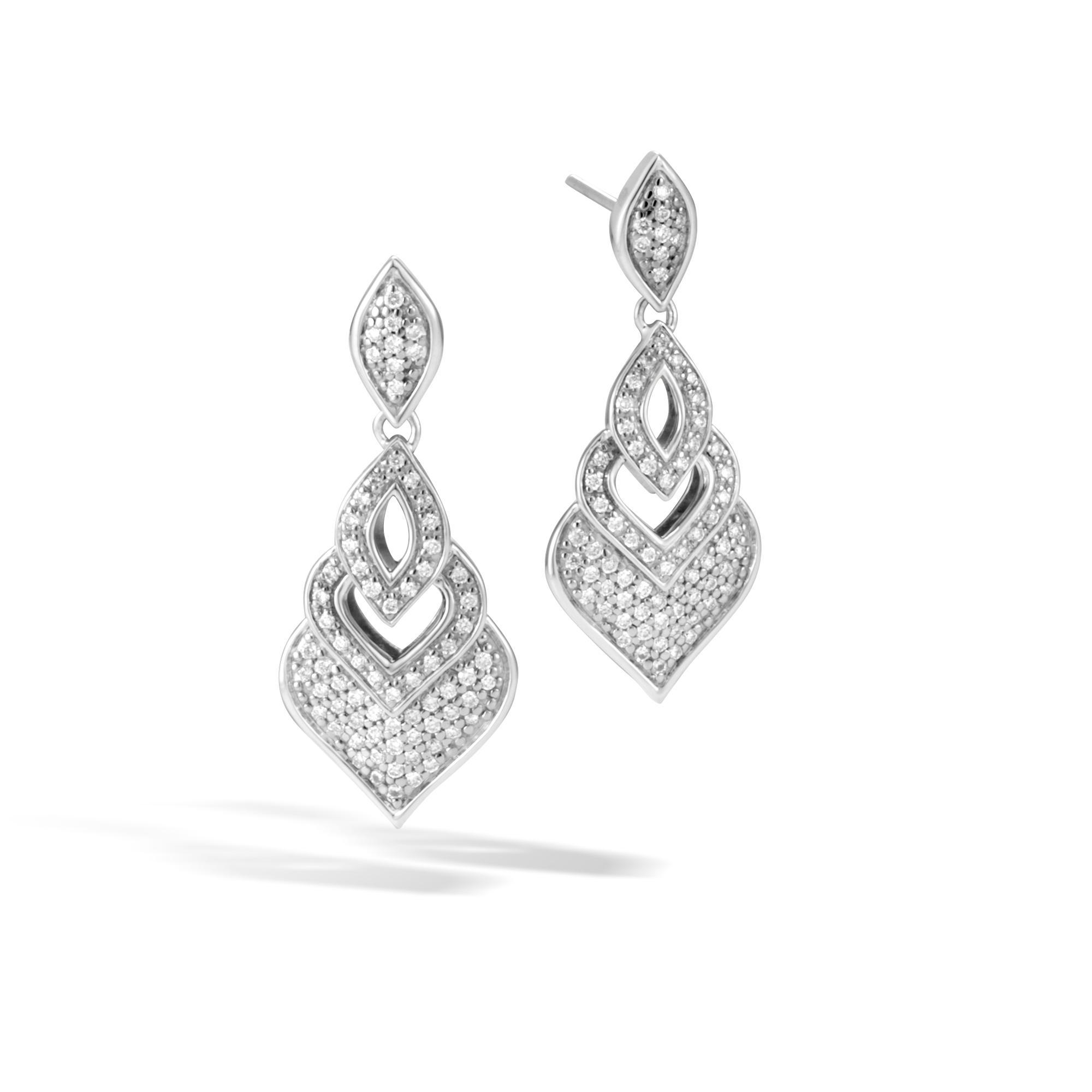 John Hardy Naga Stud Earrings w/ Diamonds mUVot