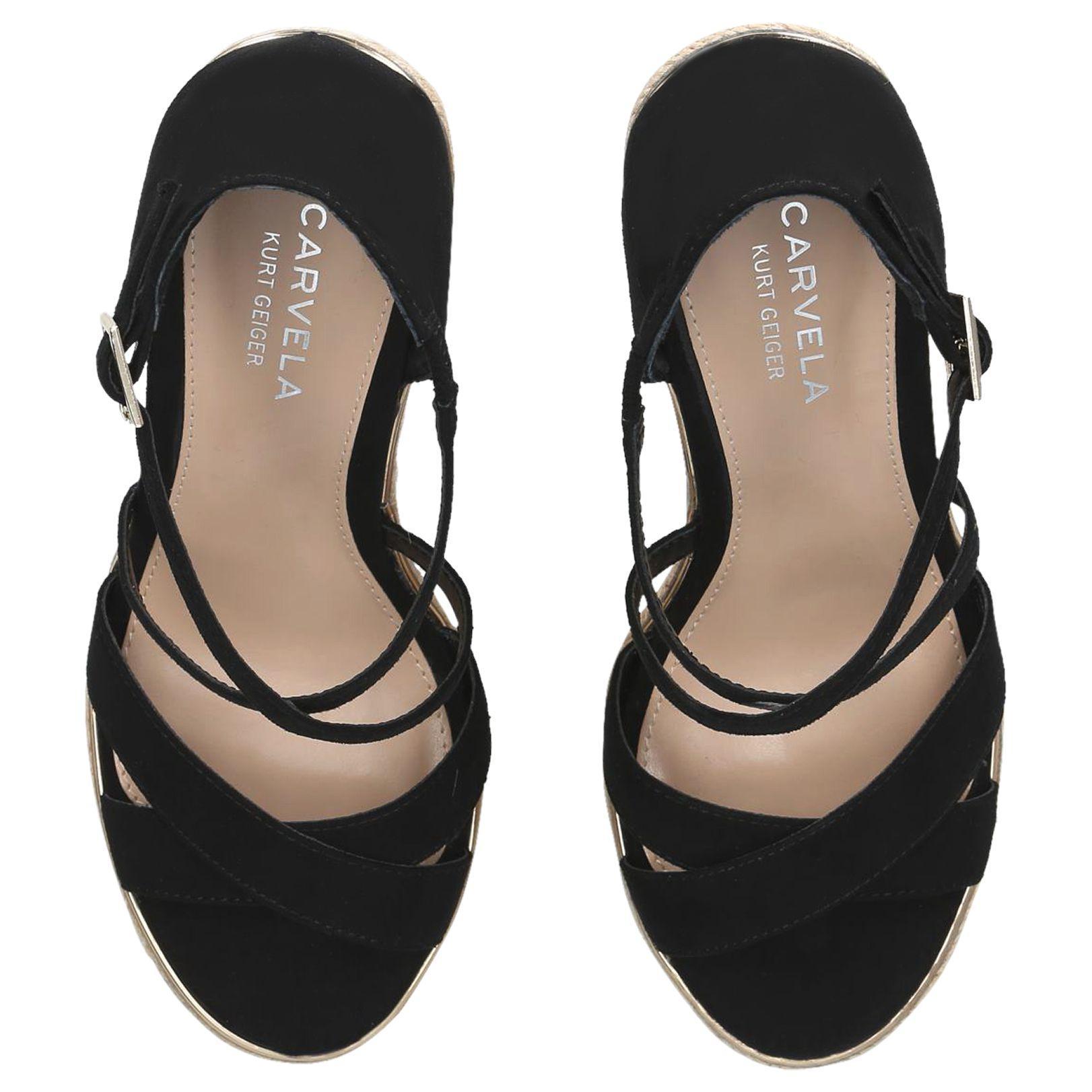 97ddb2c9b07 Carvela Kurt Geiger - Black Sublime Wedge Heel Sandals - Lyst. View  fullscreen