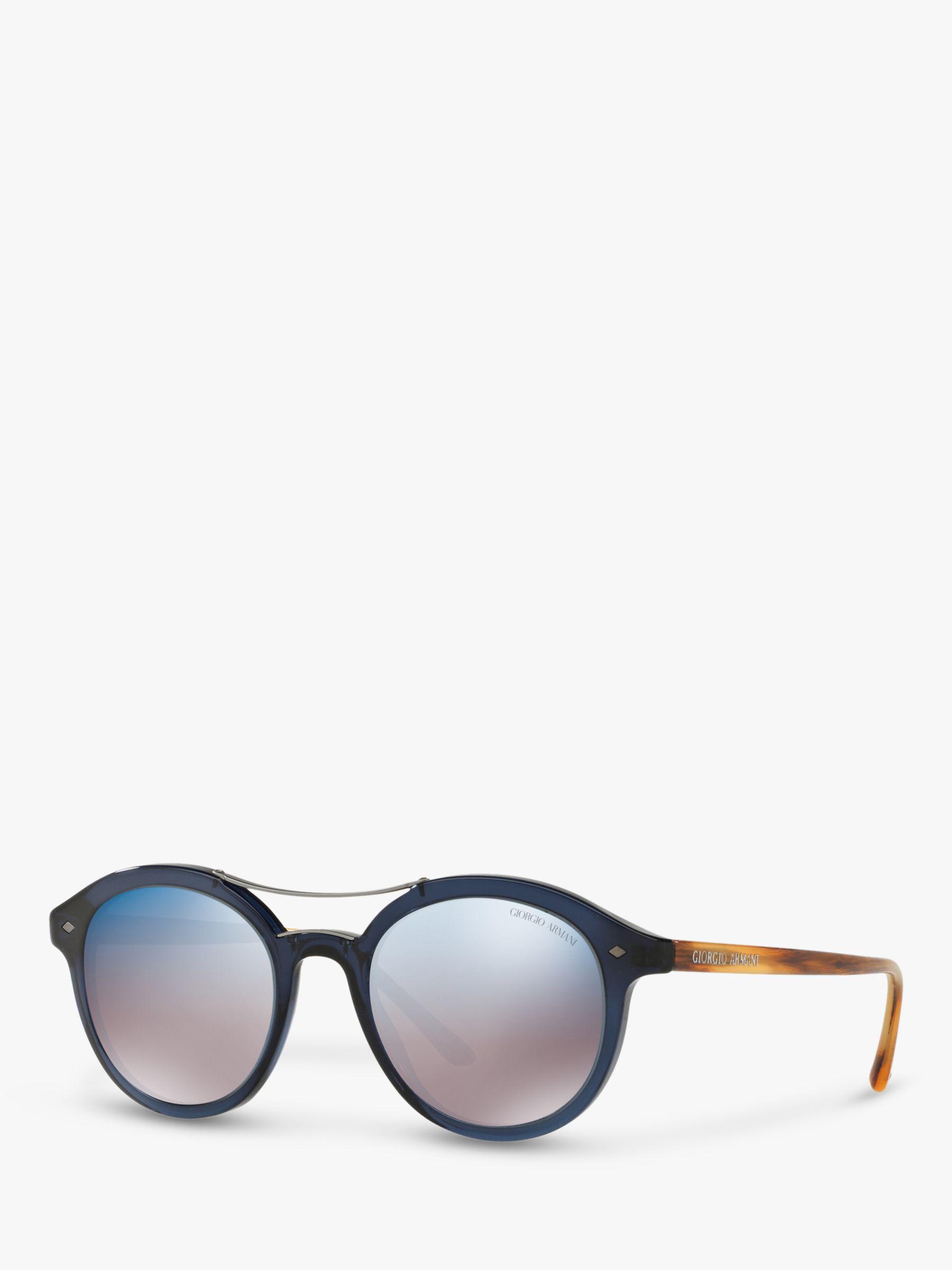 a8a64c69d2de Blue Giorgio Sunglasses Armani Men's In Ar8007 Men For Lyst Round pq6pYgw