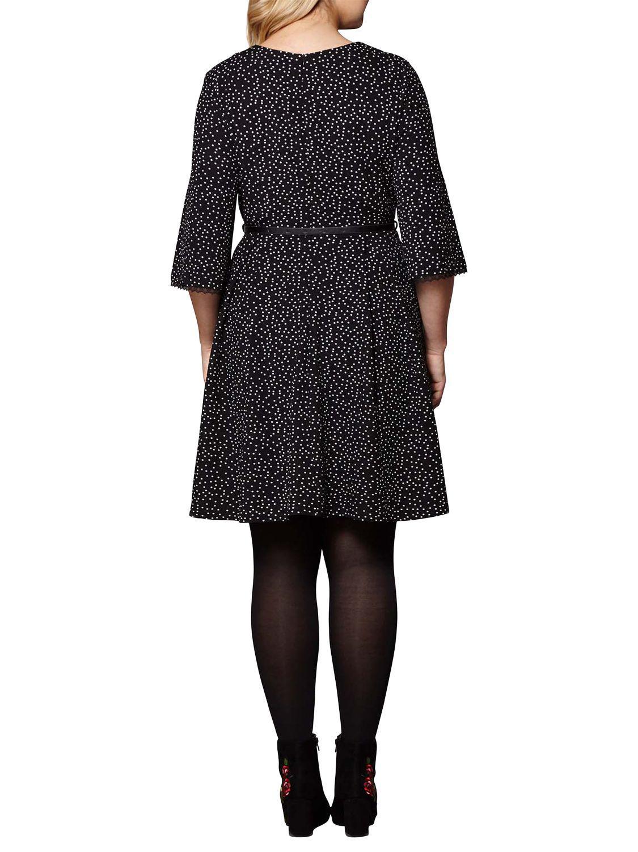 20764b1a183 Lyst - John Lewis Yumi Curves Polka Dot Pleated Dress in Black