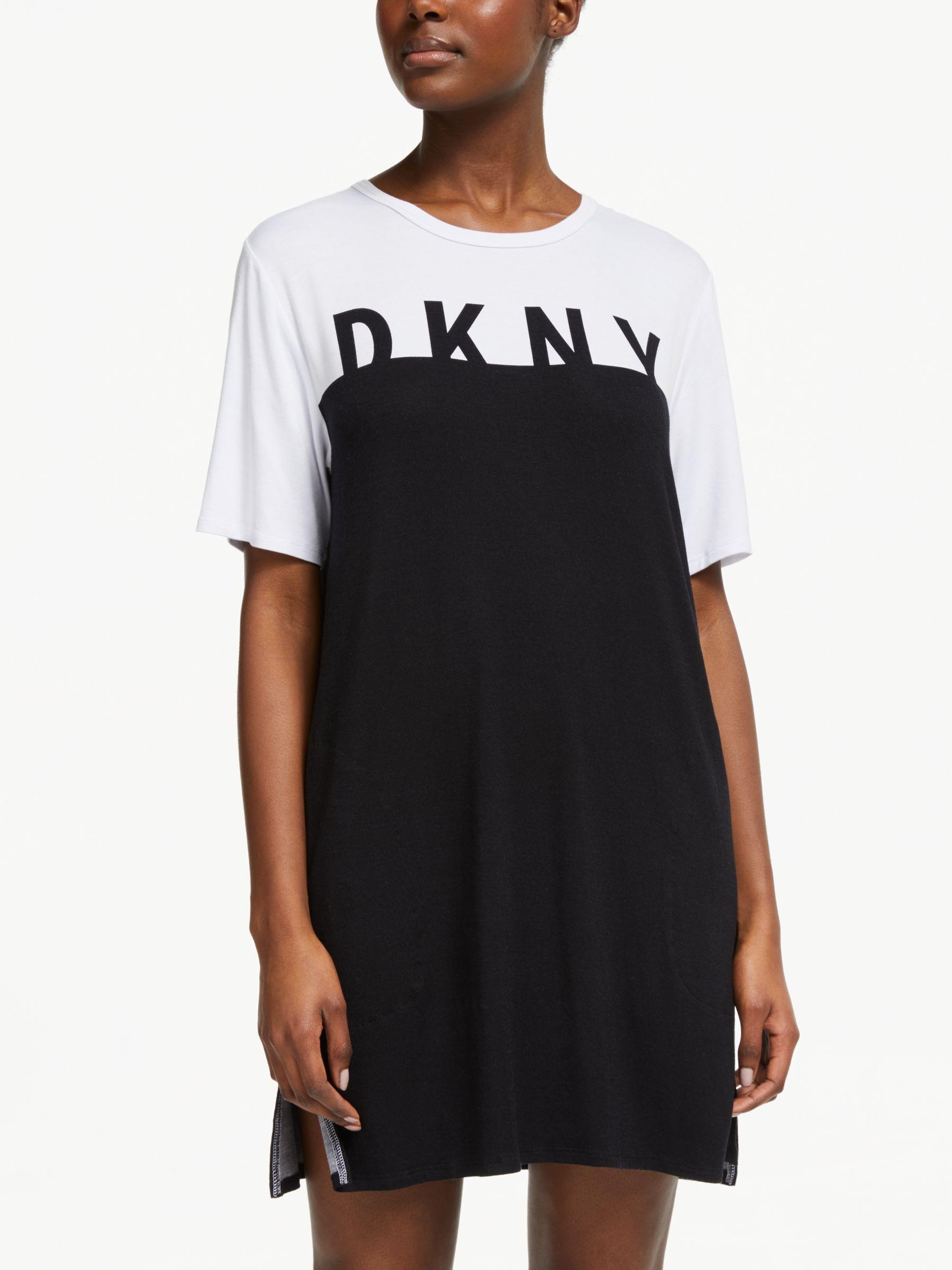 7bc06a6d16 DKNY - Black Earn Your Stripes Nightdress - Lyst. View fullscreen