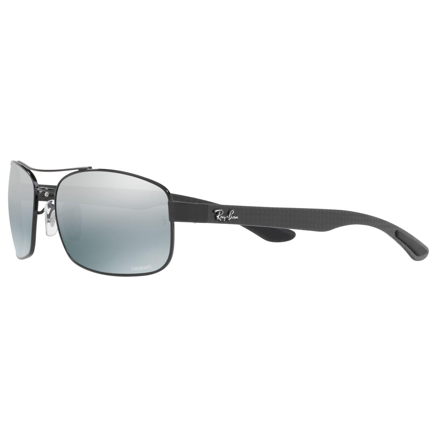 92171b1d4a Ray-Ban Rb8318ch Polarised Rectangular Sunglasses in Gray for Men - Lyst