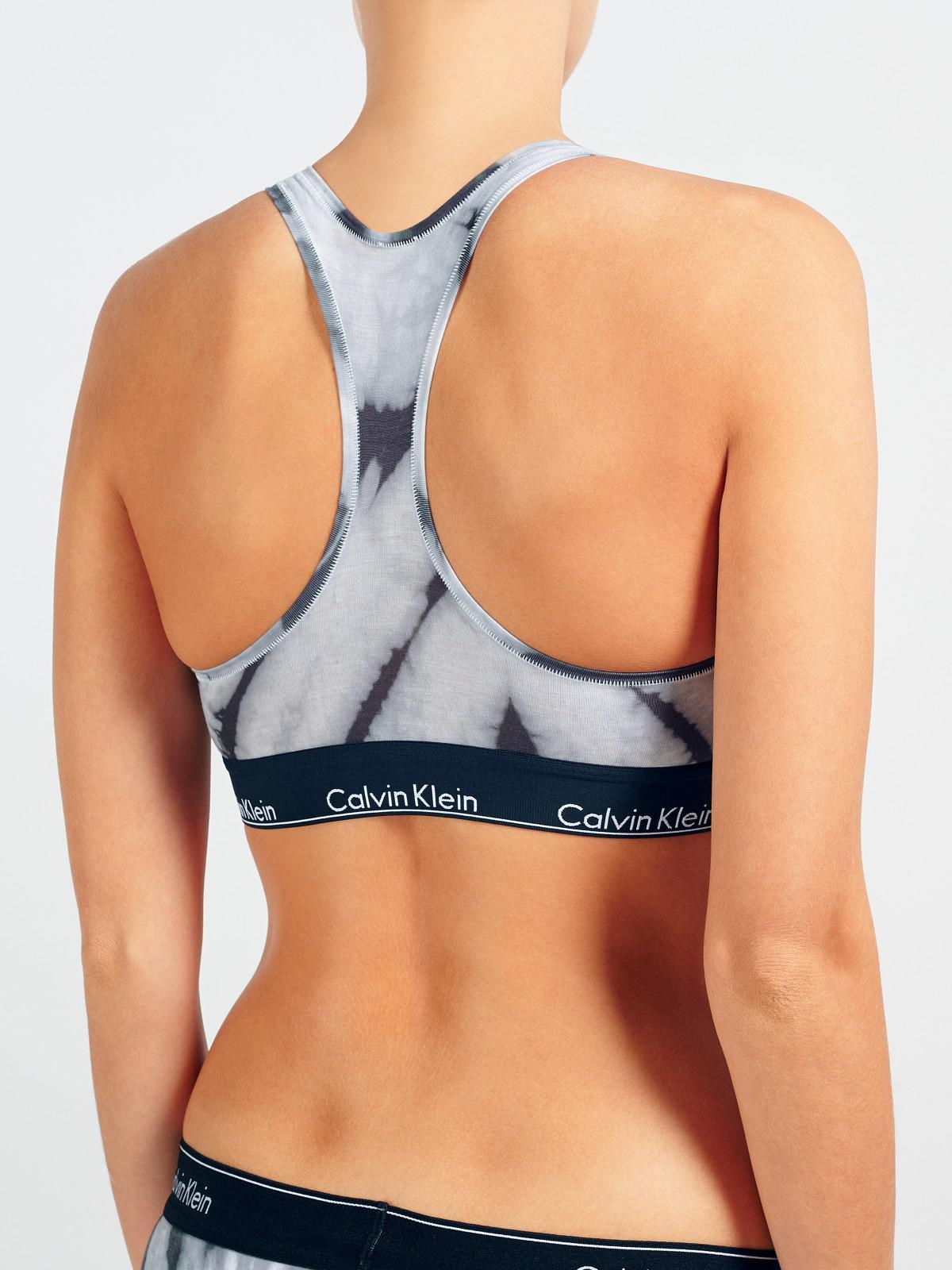 15073a3fa2 Calvin Klein Underwear Modern Cotton Bleach Dye Bralette in Gray - Lyst