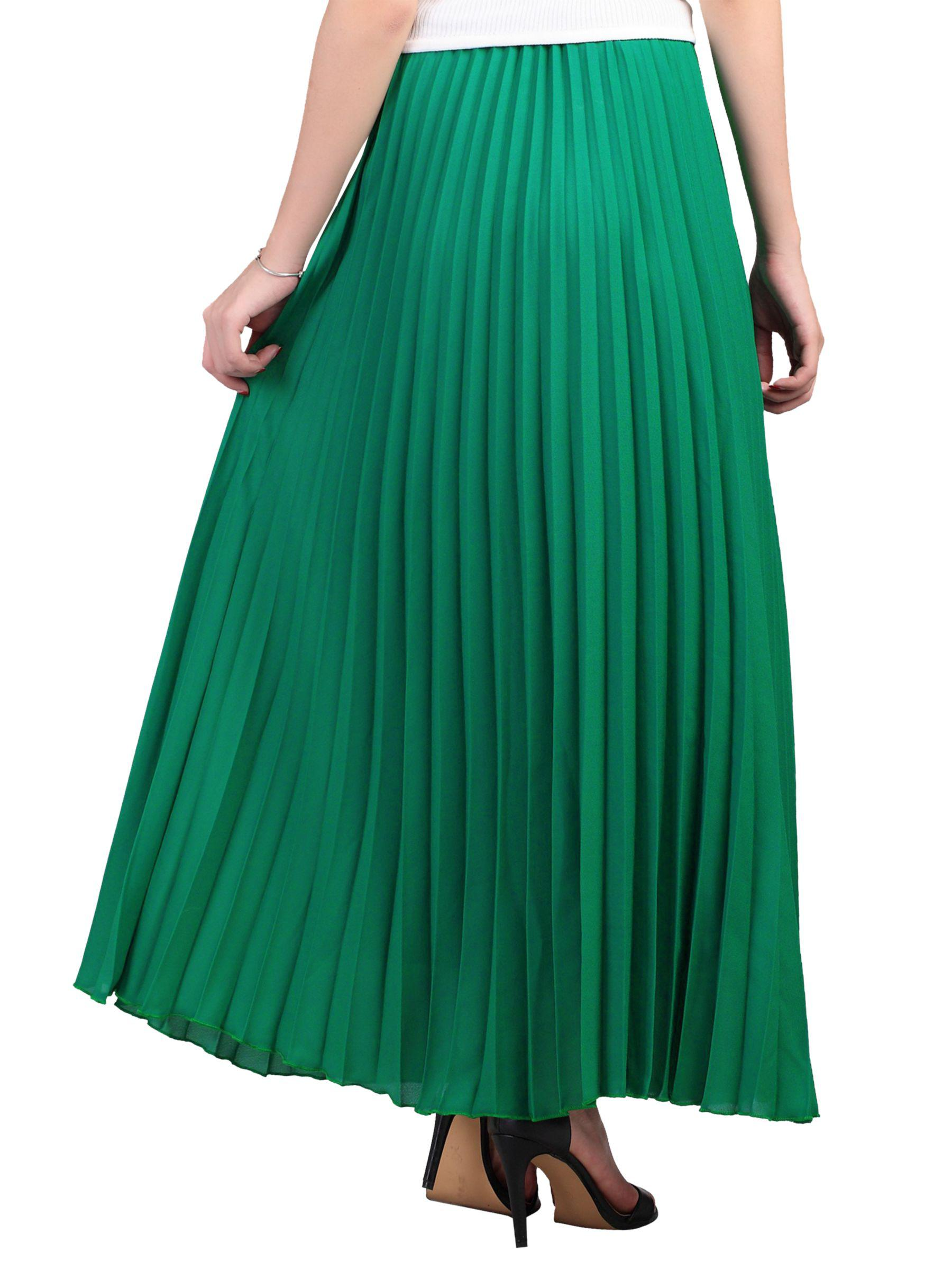 4f285e50d9 Jolie Moi Pleated Crepe Maxi Skirt in Green - Lyst