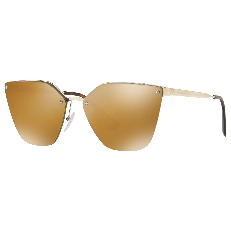 8eab5f3cf28 Prada Pr 68ts Polarised Cat s Eye Sunglasses in Brown - Lyst