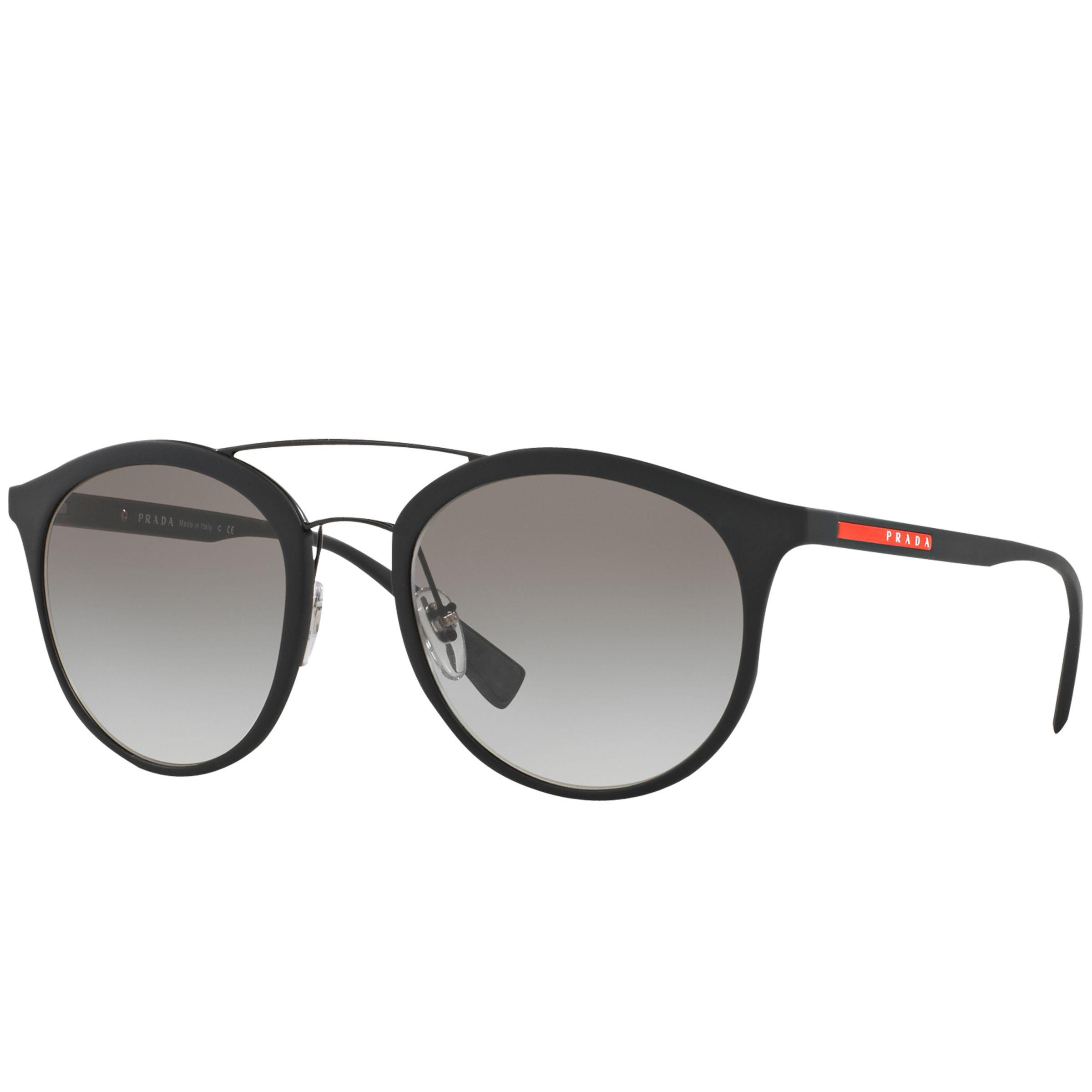 f5b1083814 Prada Linea Rossa Ps 04rs Oval Sunglasses in Gray for Men - Lyst