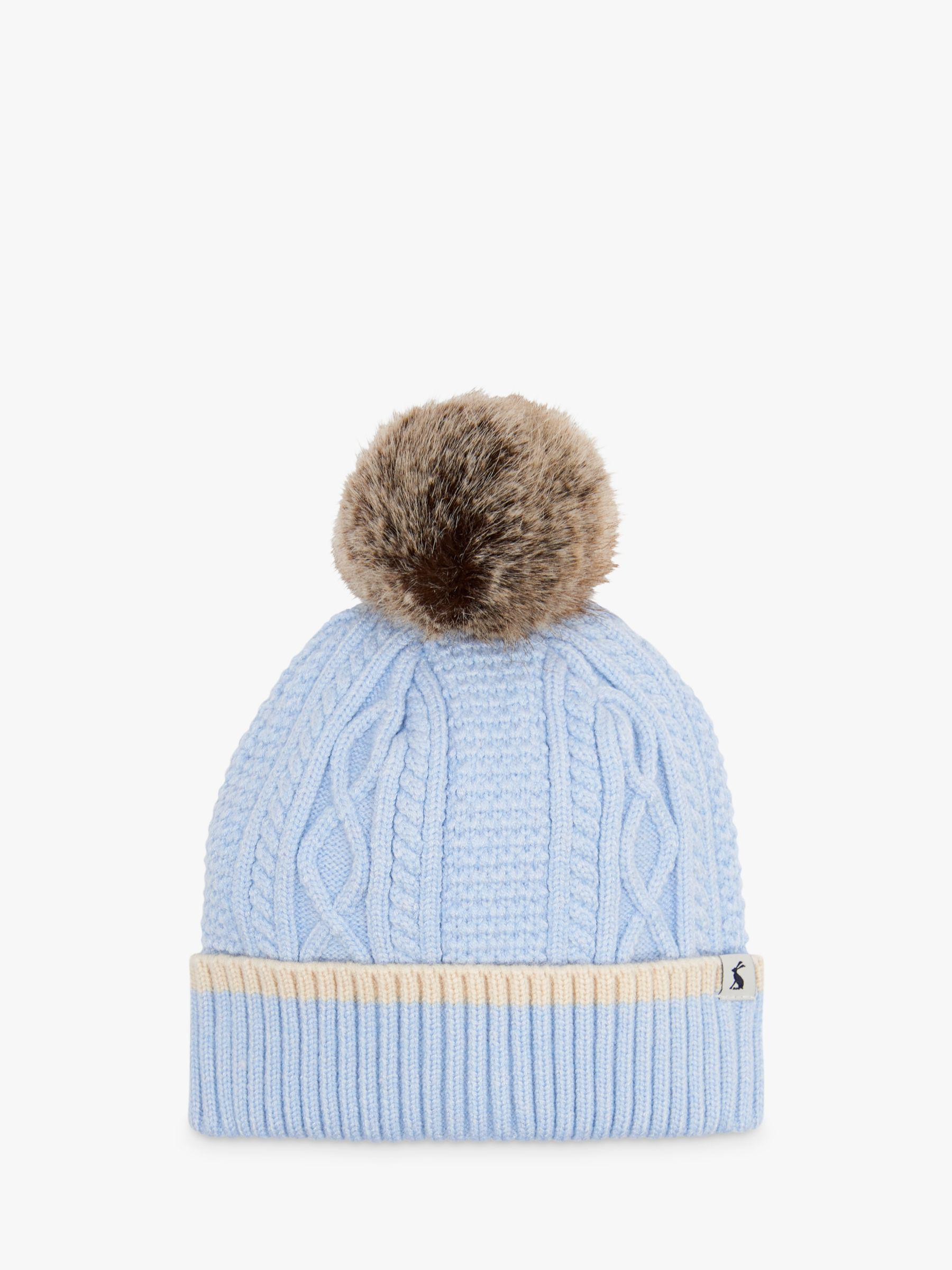 e593688fe6023 Joules Anya Bobble Cable Knit Hat in Blue - Lyst