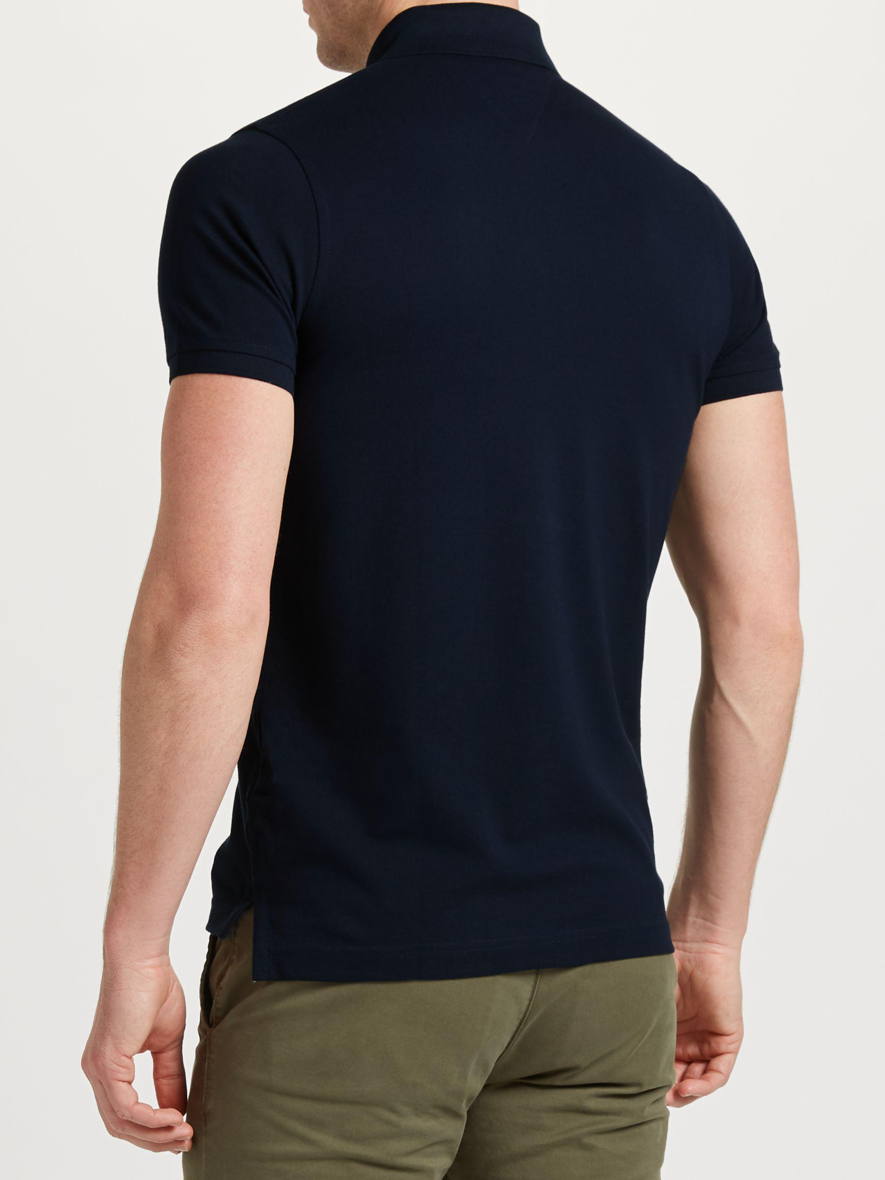 fb50e721d9b5a Tommy Hilfiger Navy Slim Fit Polo Shirt in Blue for Men - Save 30% - Lyst